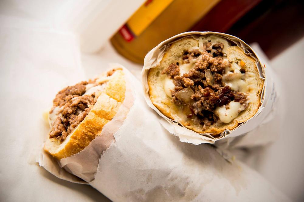 Richie's S.U.B. Shoploose meat cheeseburger sub