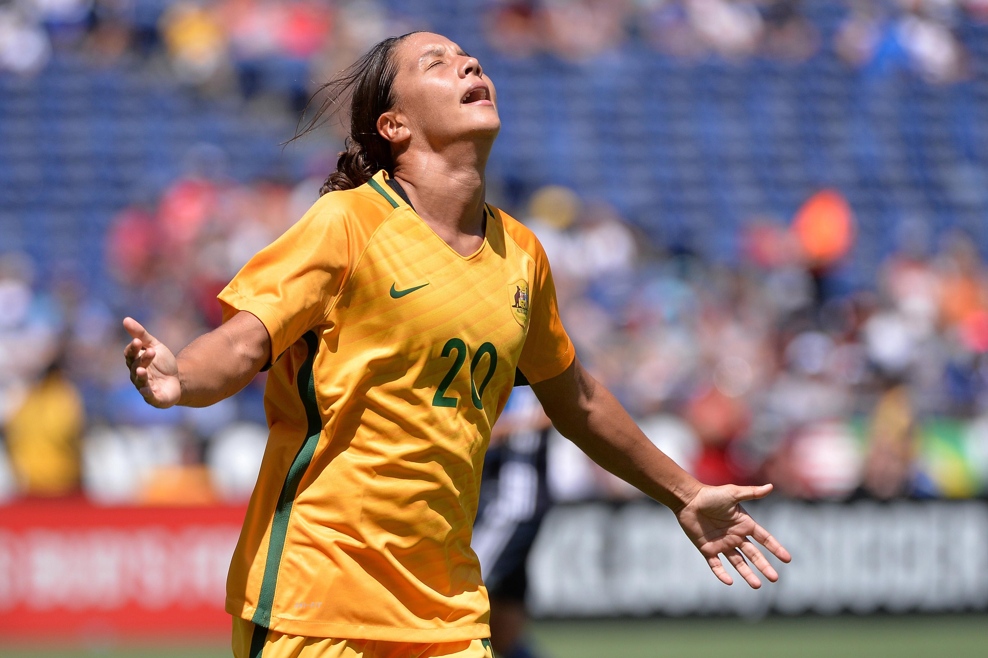 Soccer: Tournament of Nations - Women's Soccer-Australia at Japan