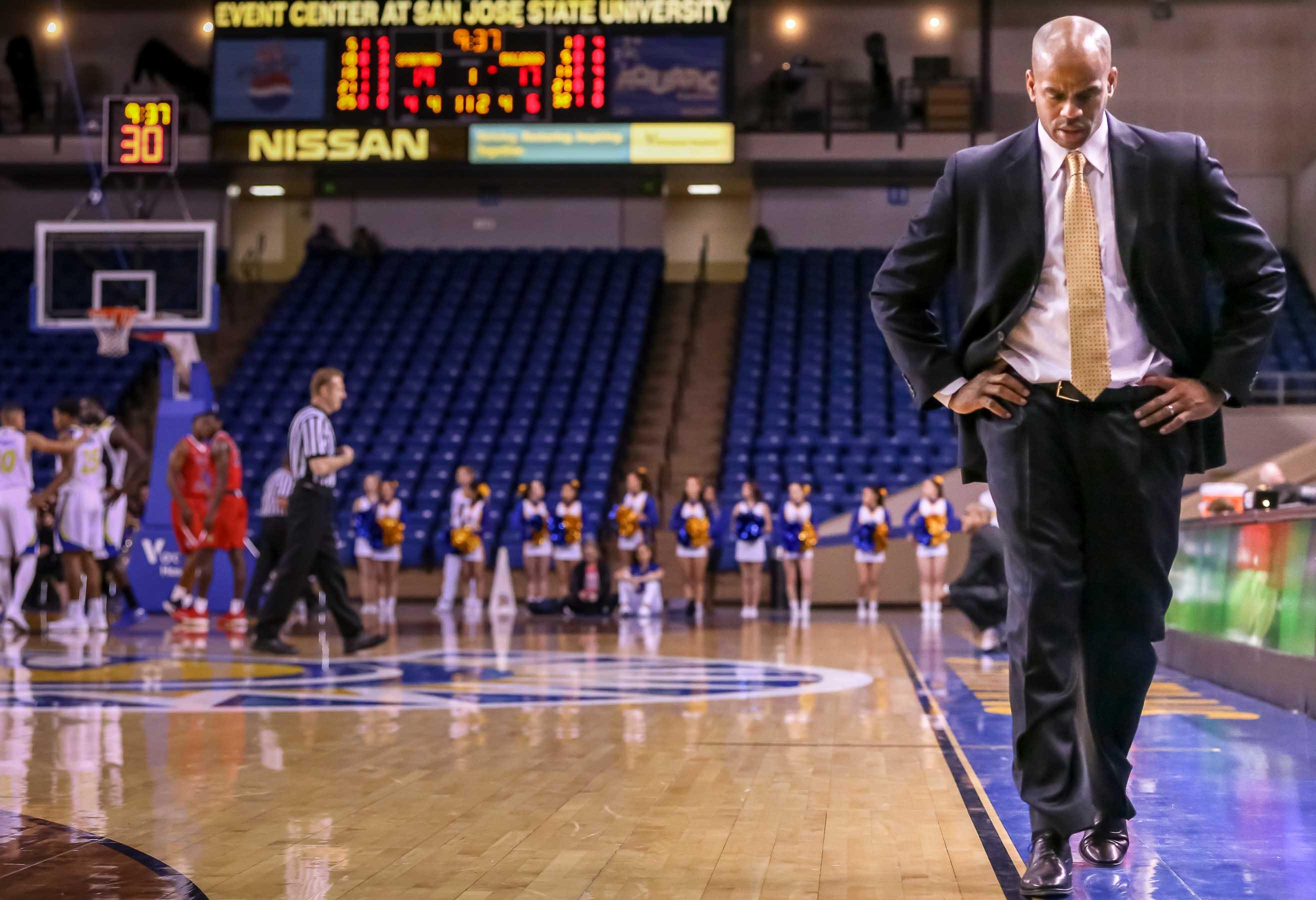 San Jose State head coach, Jean Prioleau