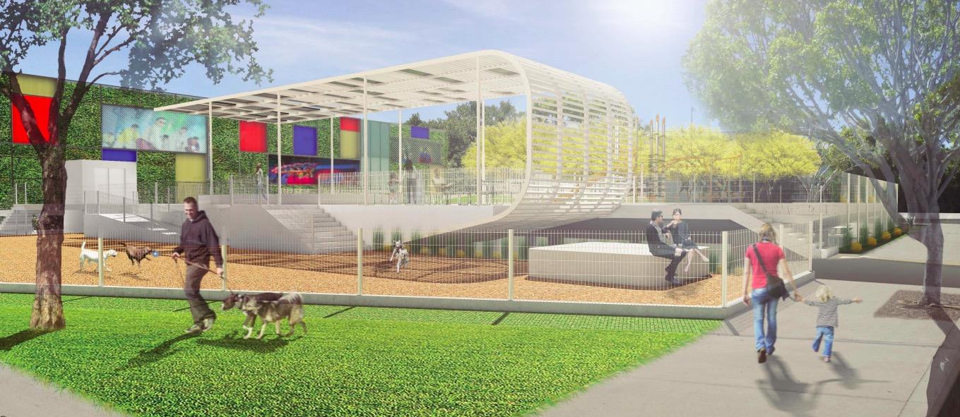 Pocket park rendering