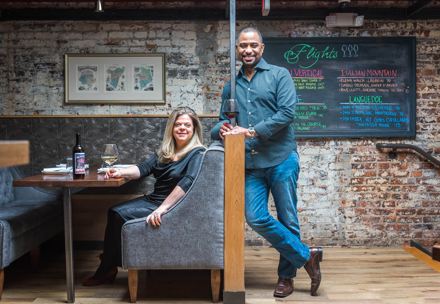 Cork Market & Wine Bar co-owners Diane Gross and Khalid Pitts at their new location at 1805 14th Street NW.