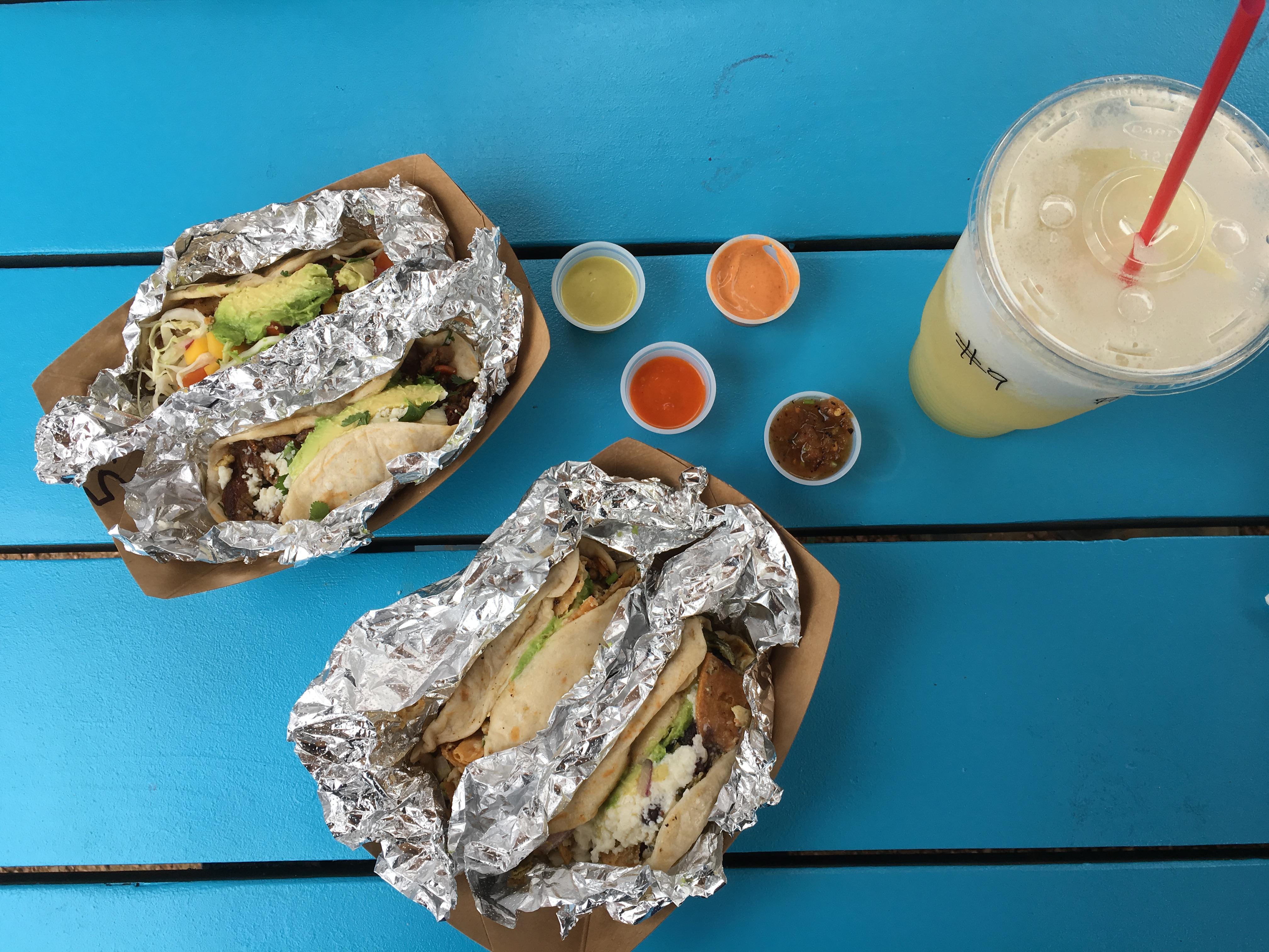 Tacos and agua fresca from Veracruz All Natural