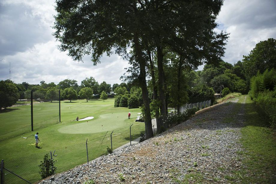 Where the proposed Northeast Trail passes Ansley Golf Club.