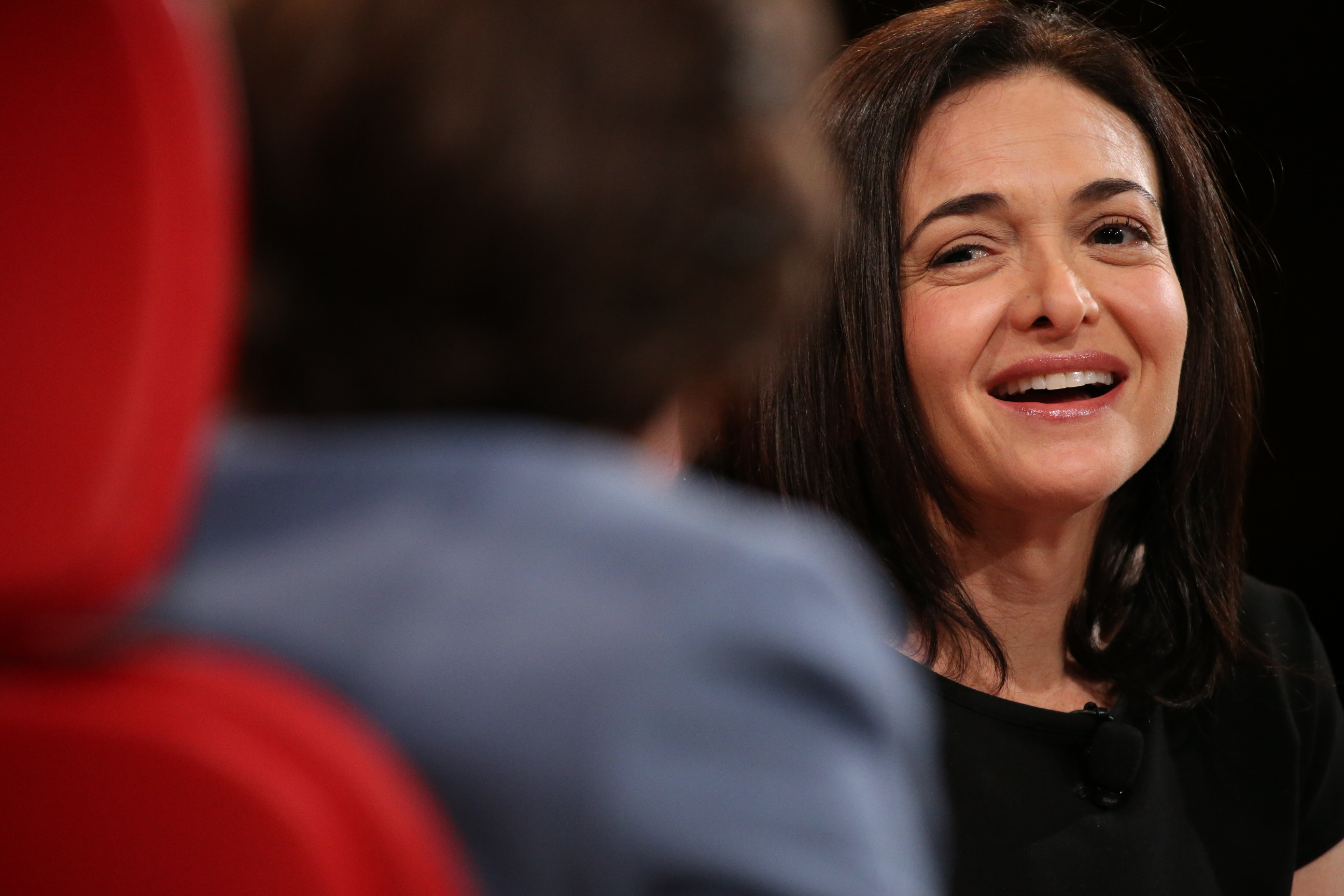 Facebook COO Sheryl Sandberg onstage with Kara Swisher at the Code conference