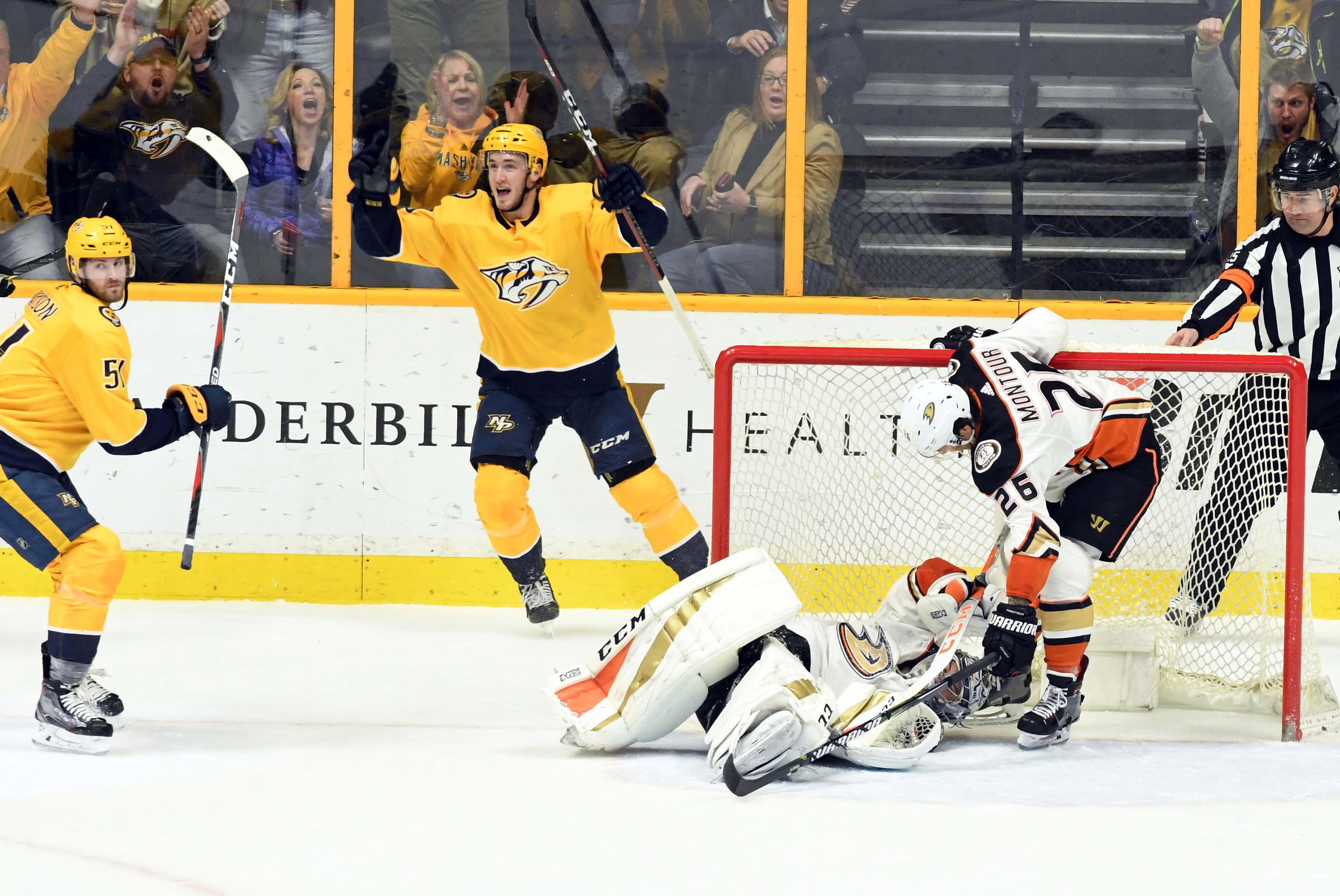 NHL: Anaheim Ducks at Nashville Predators