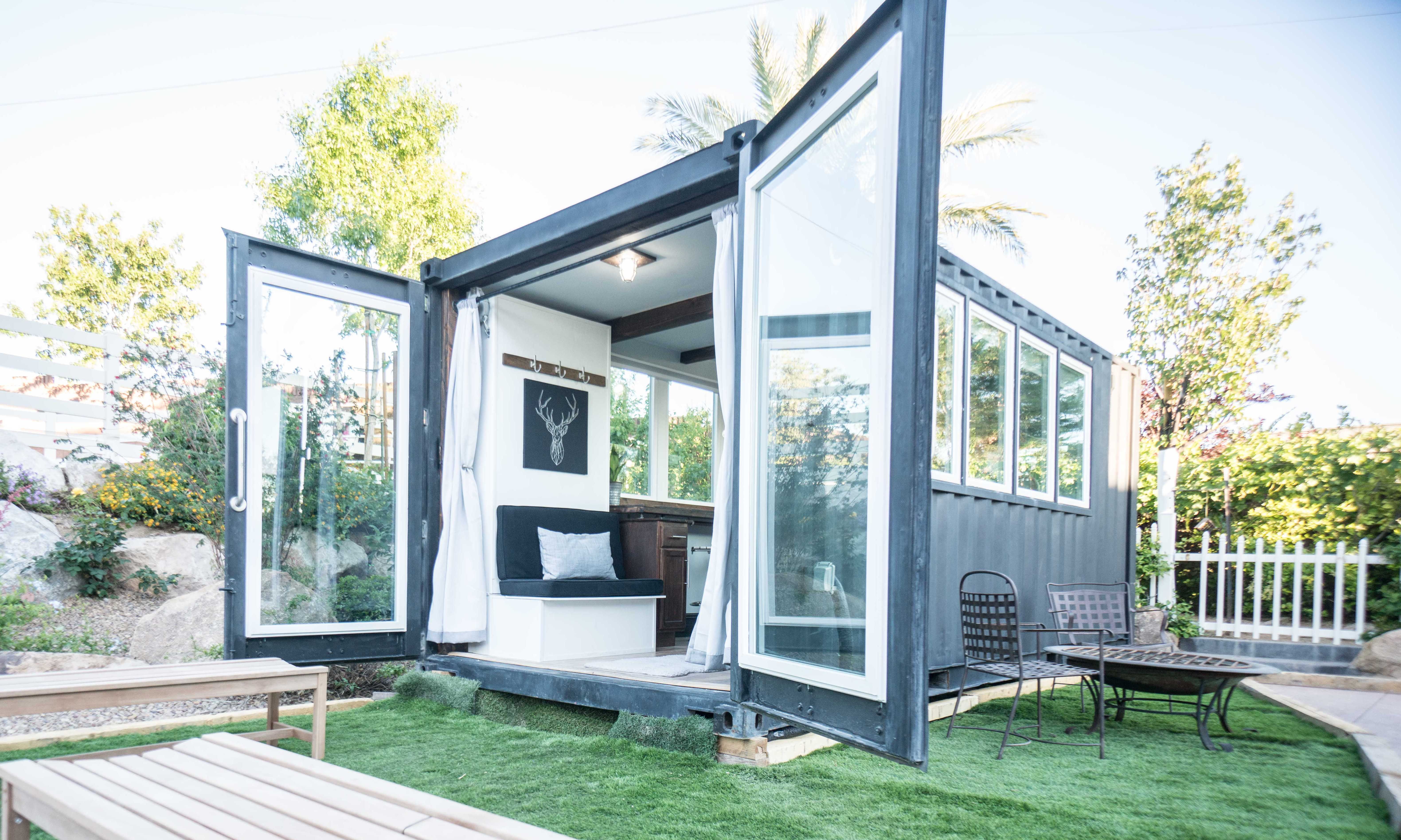 Light filled shipping container house cost just 36K