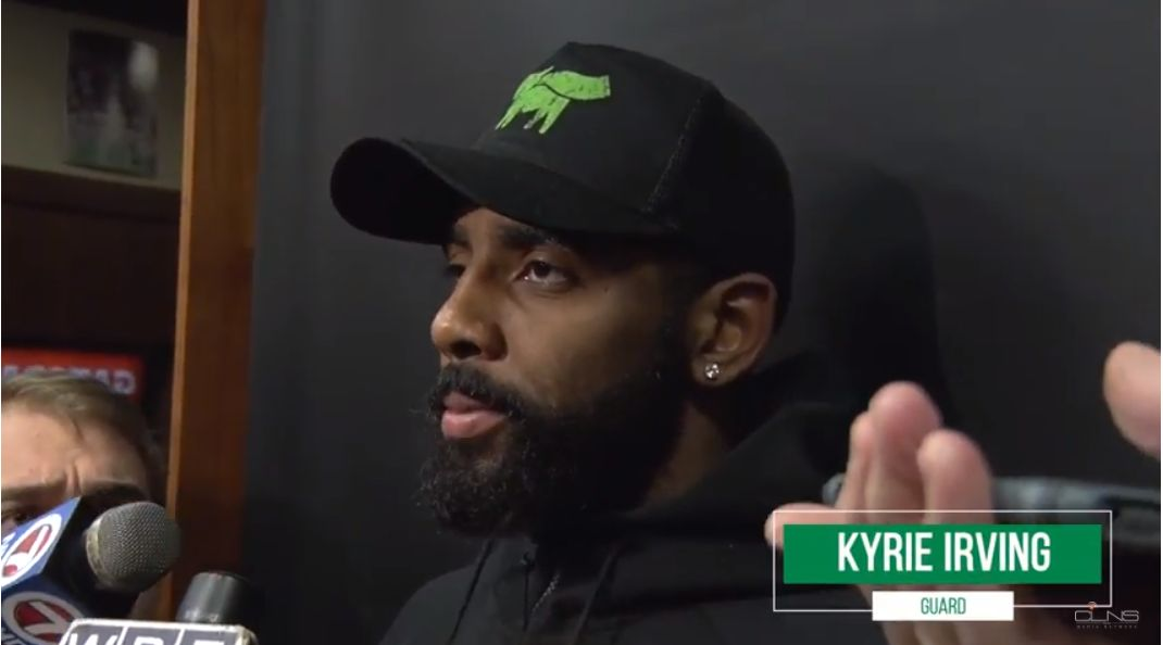 9ff1b7f92b53 Inside the Celtics Locker Room  Kyrie update  C s injury reactions (video)
