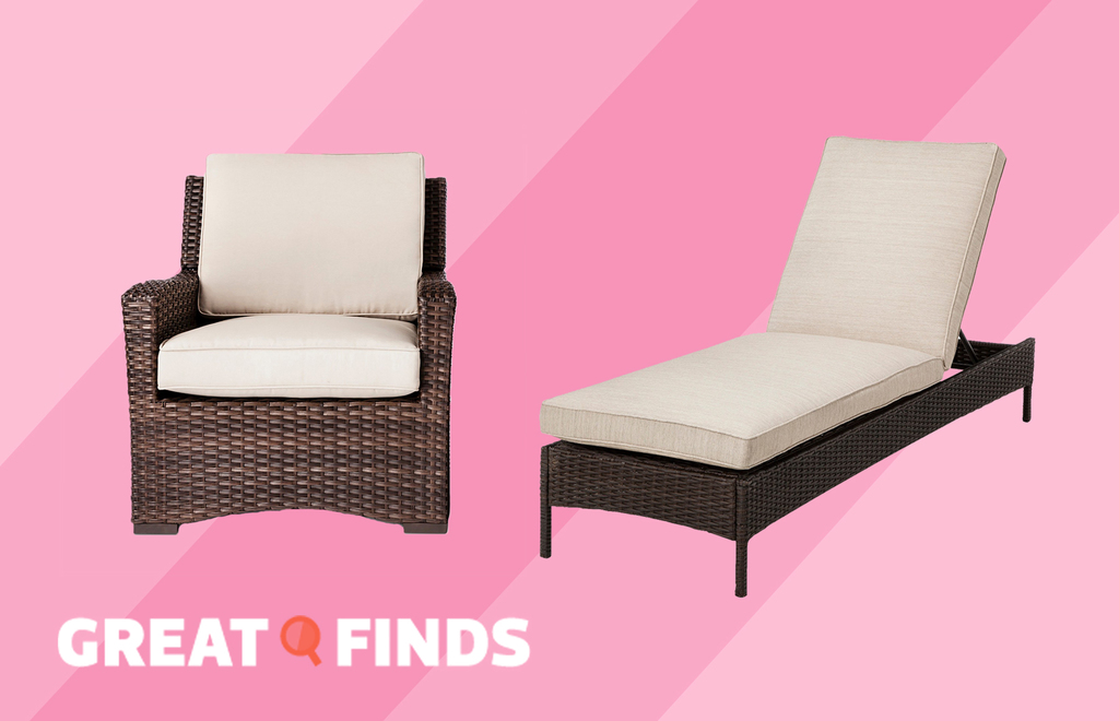 outdoor chair and chaise lounge from Target