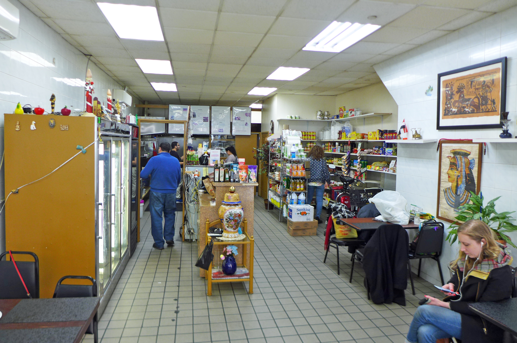Little Egypt is part grill and cafe, part grocery store.