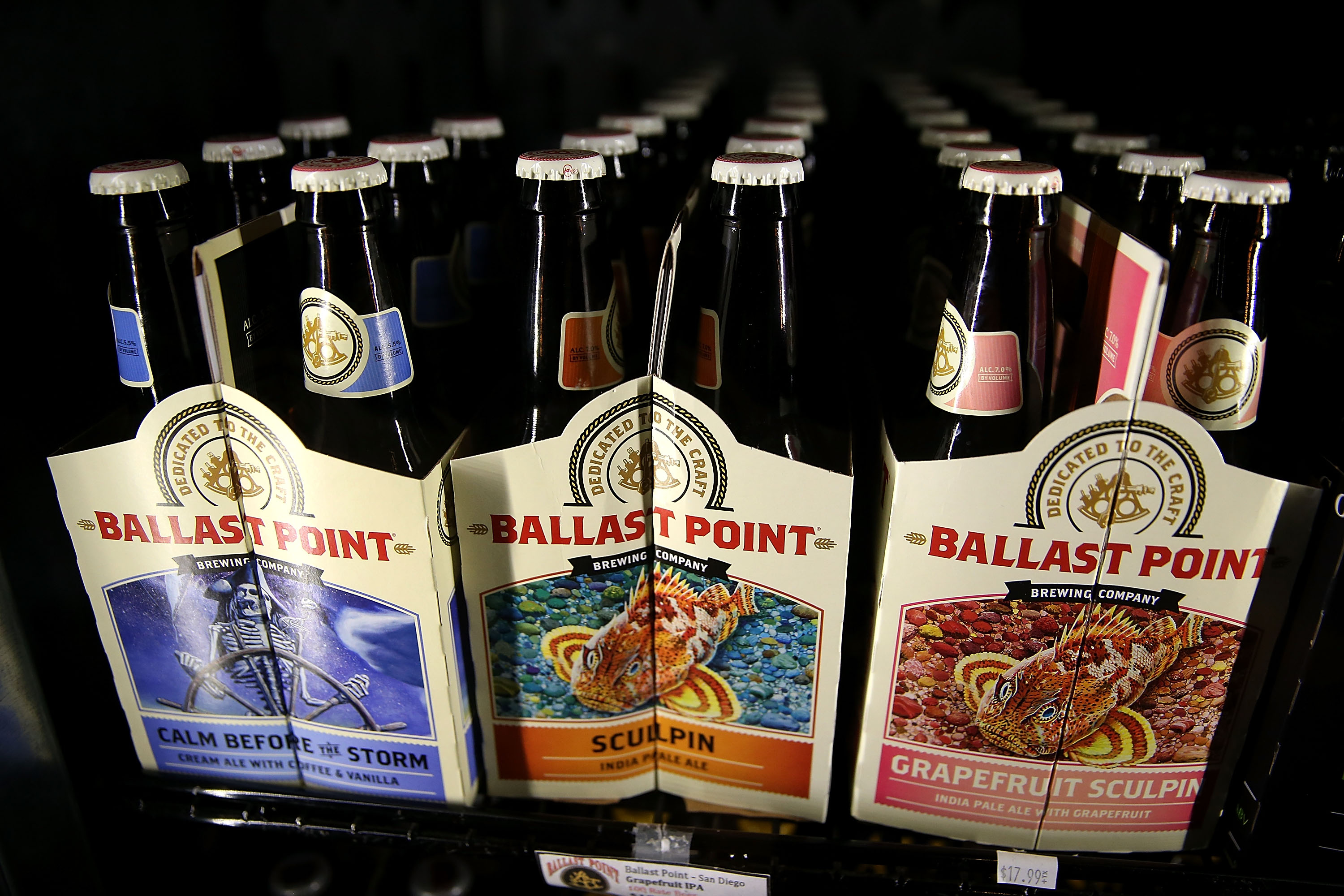 Six packs of ballast point beer