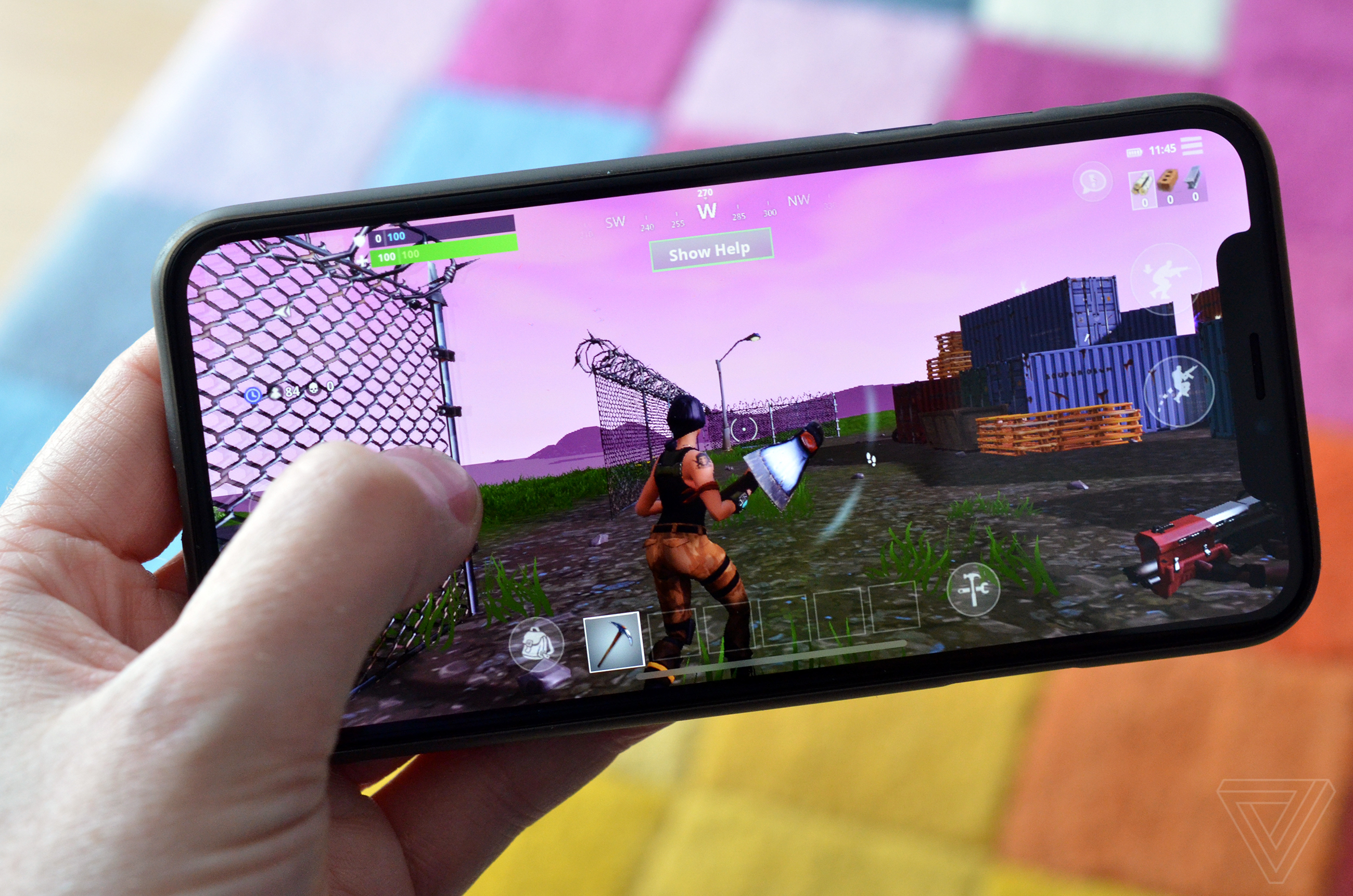 outlet store 9233f 9b42c Fortnite on an iPhone X is an exciting look at the future of mobile ...