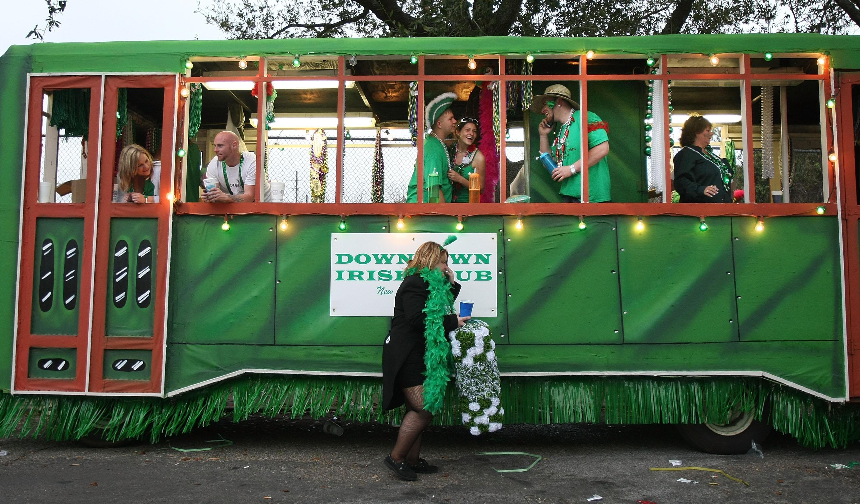 New Orleans Revelers Celebrate St. Patrick's Day