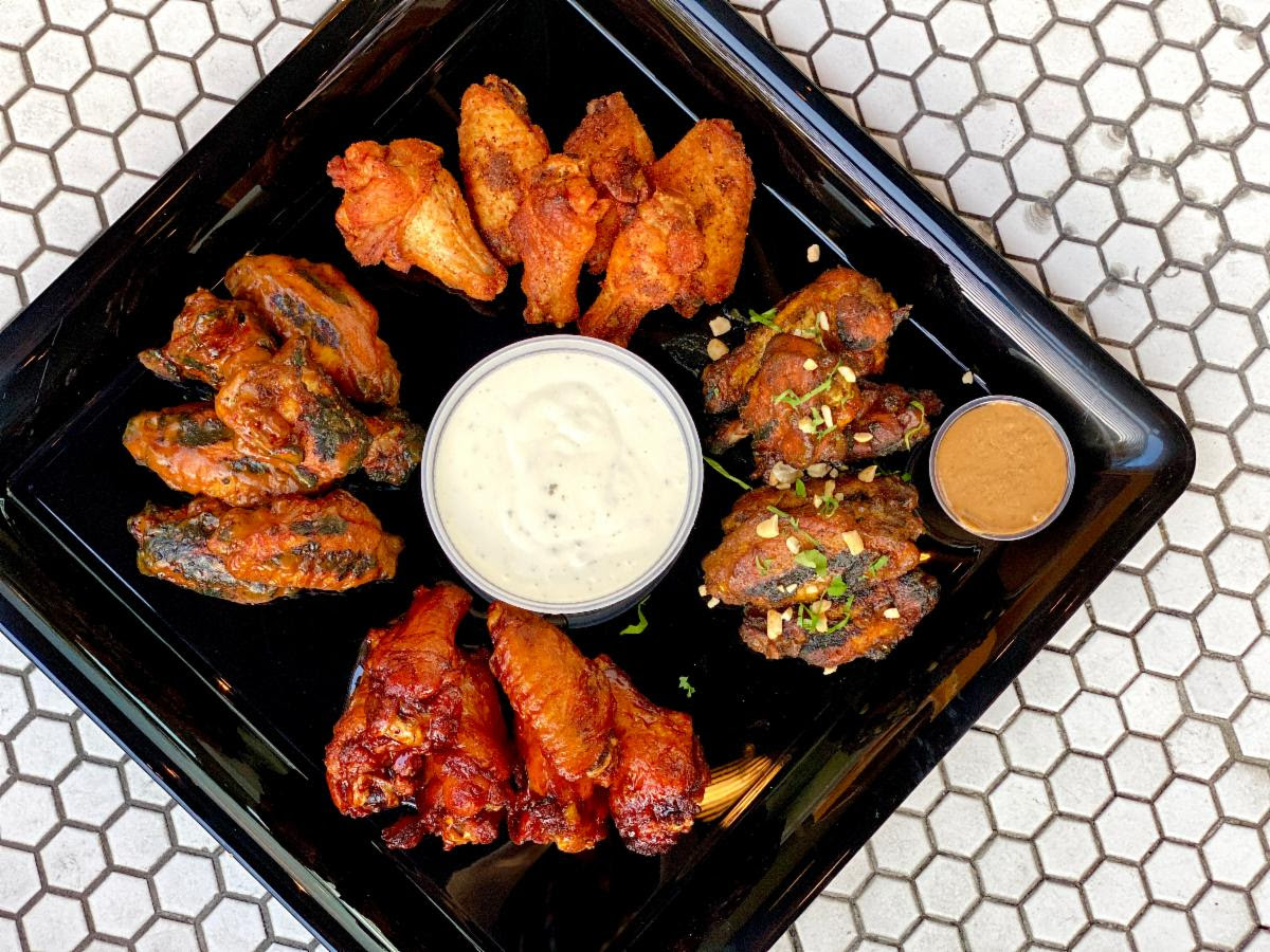 A variety of wings from Jack Rose's Wing Club menu