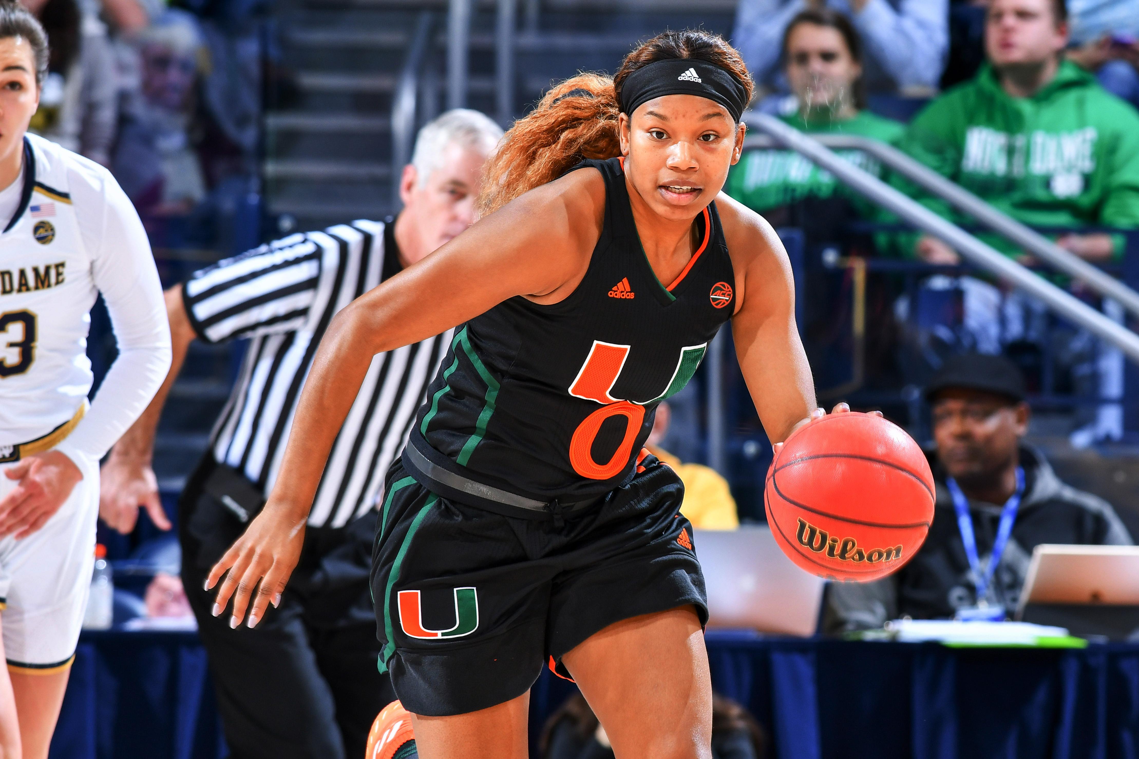 NCAA Womens Basketball: Miami-Florida at Notre Dame