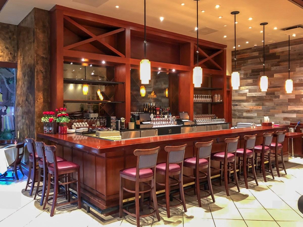 The bar at Lotus of Siam