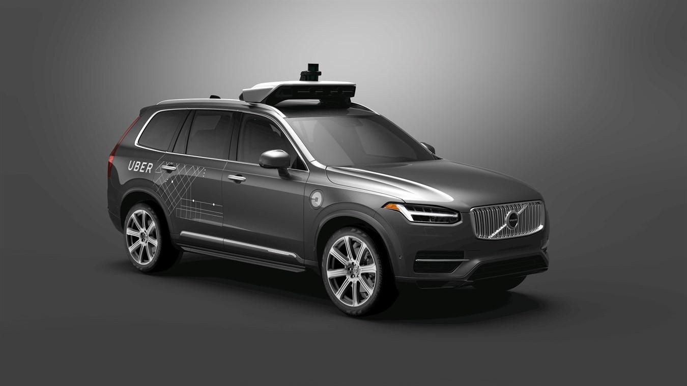An Uber self-driving SUV