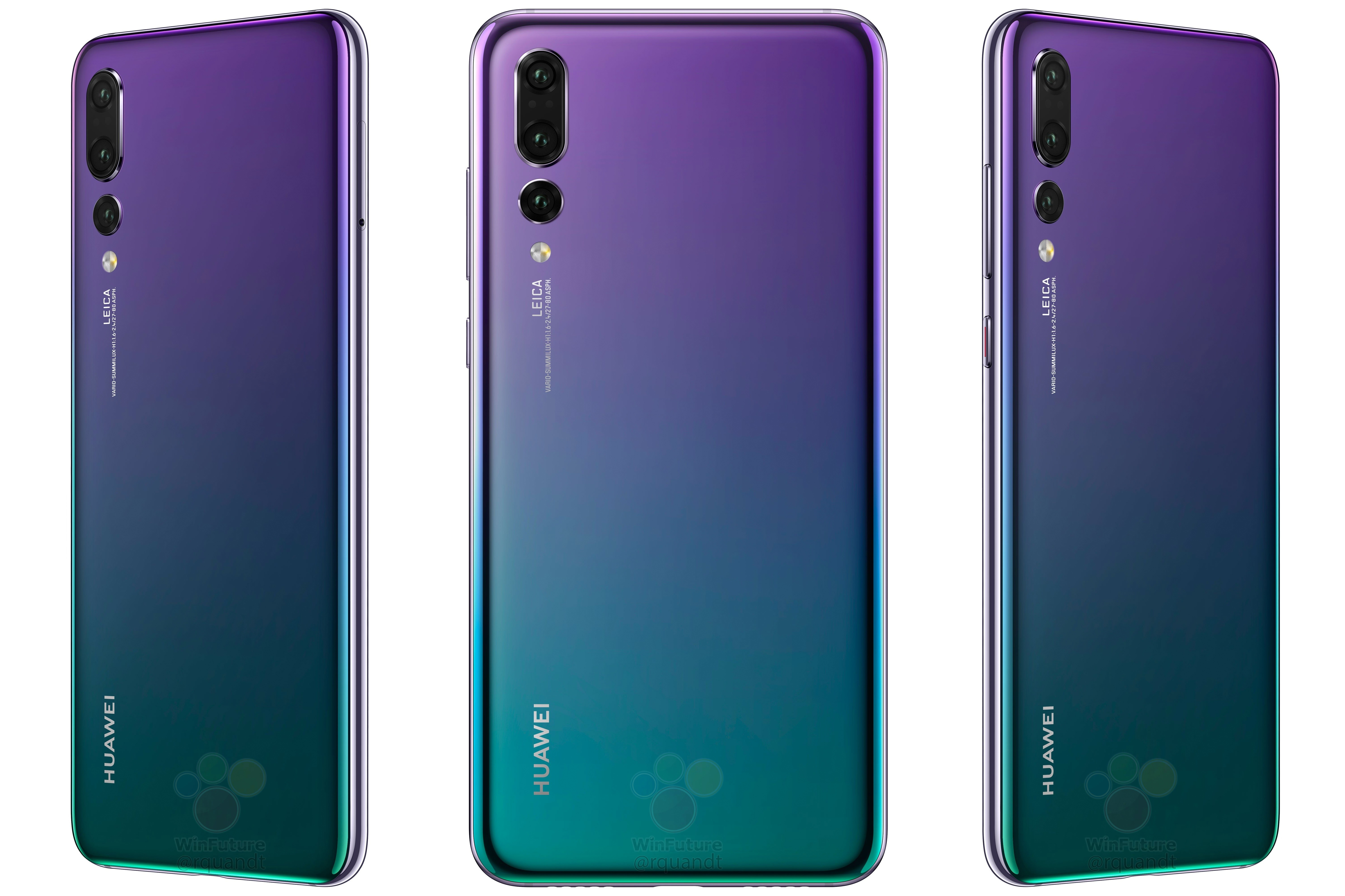 The triple camera Huawei P20 Pro will feature a 40 megapixel main sensor The Verge