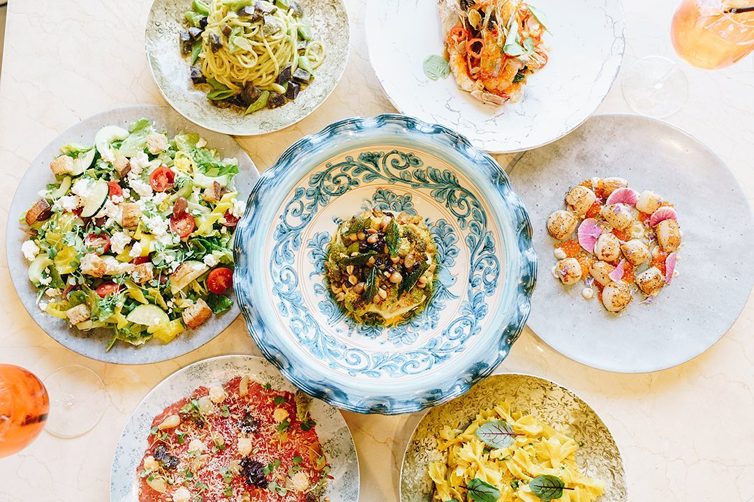 Seven very pretty Italian dishes with pastas