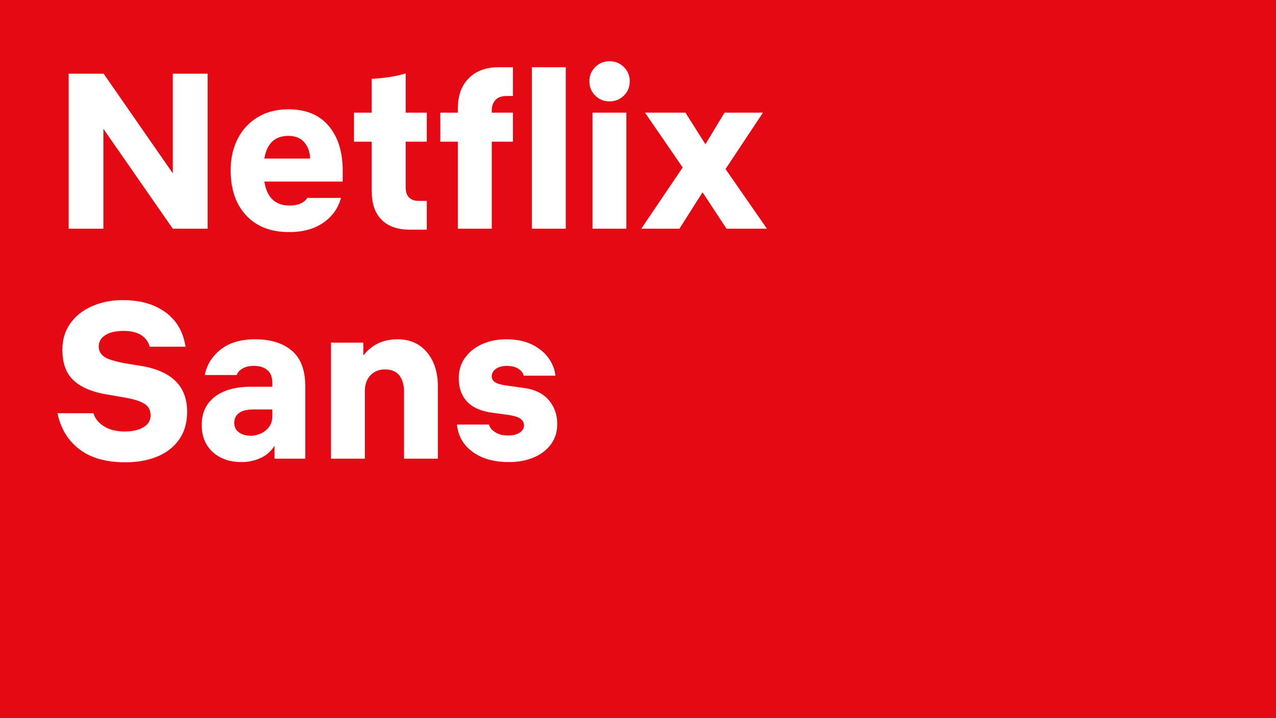 Netflix has its own custom font now just like Apple Samsung and