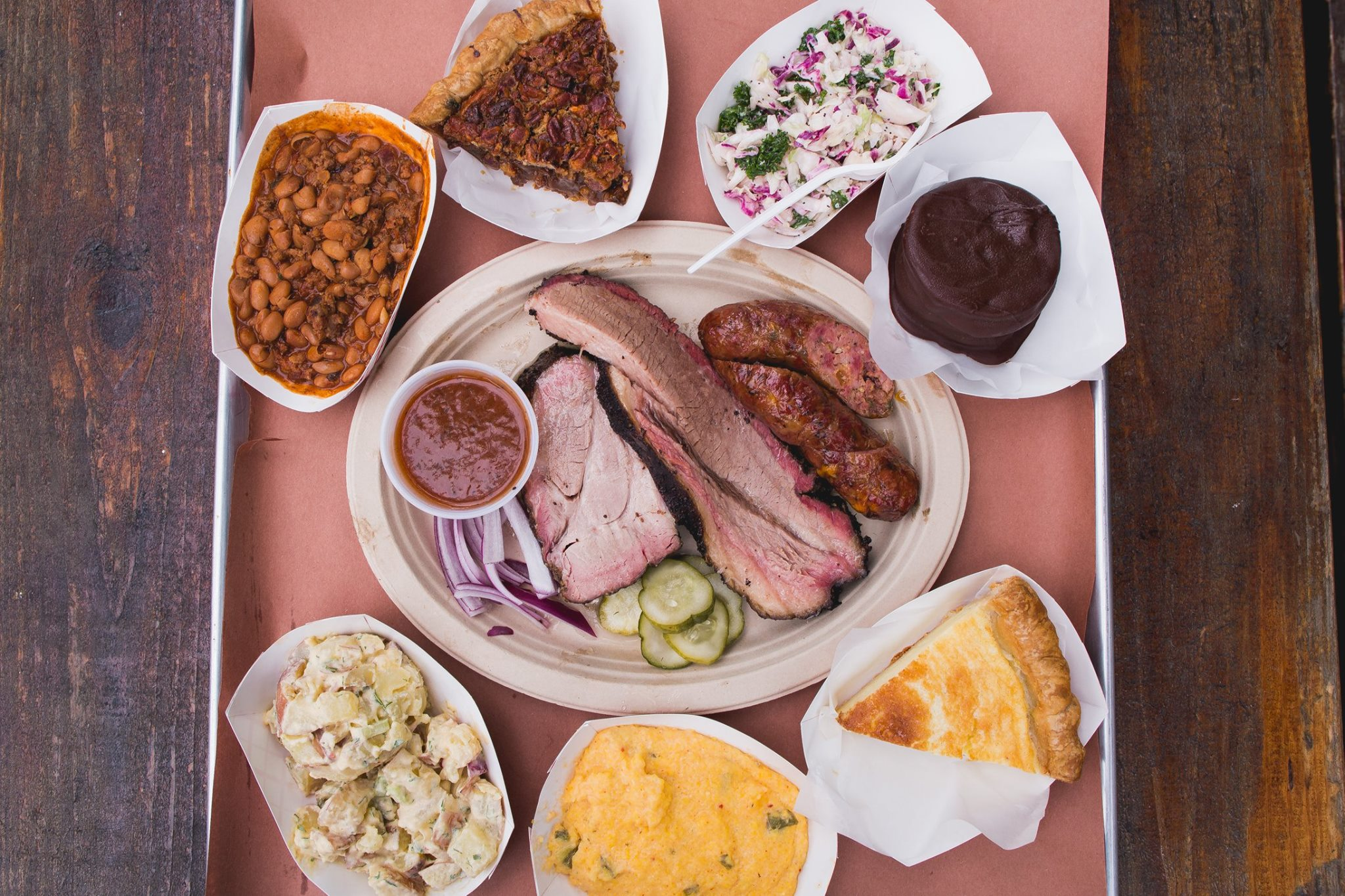 Barbecue, sides, and desserts from Micklethwait Craft Meats