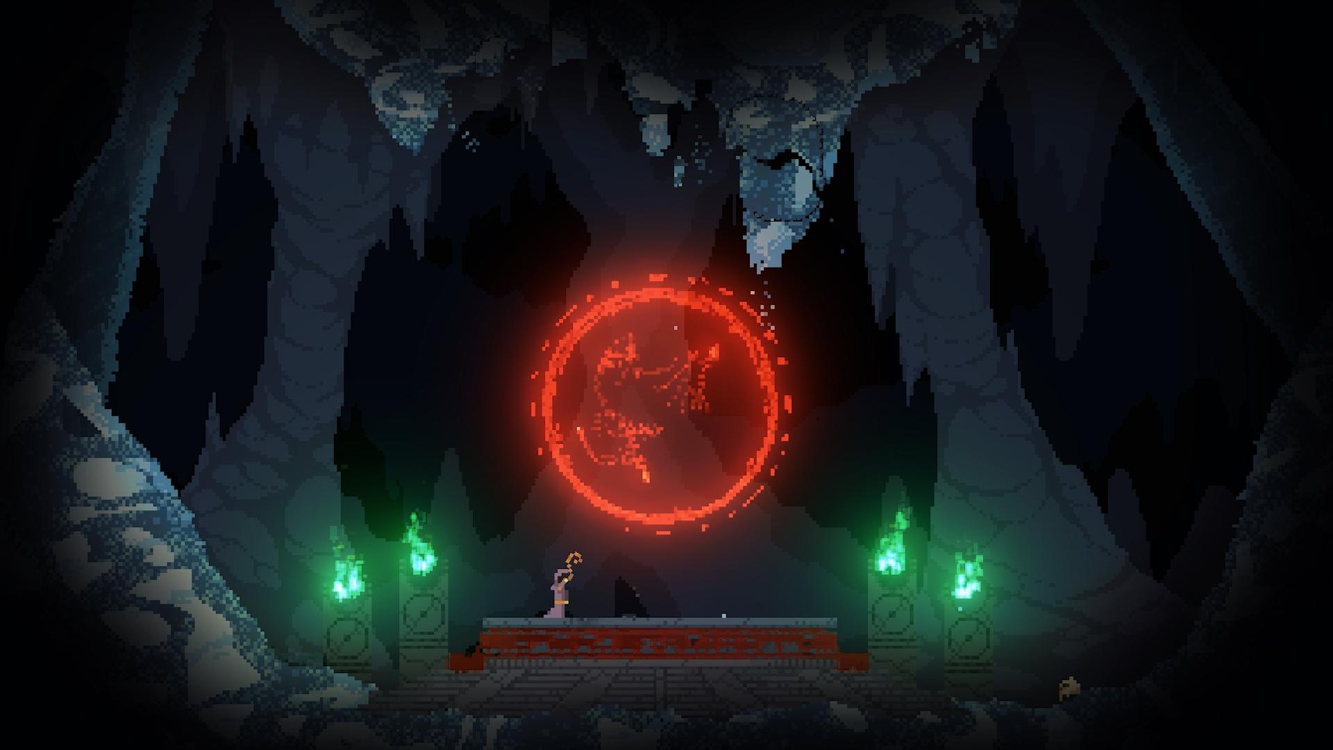 noita witch summoning red orb