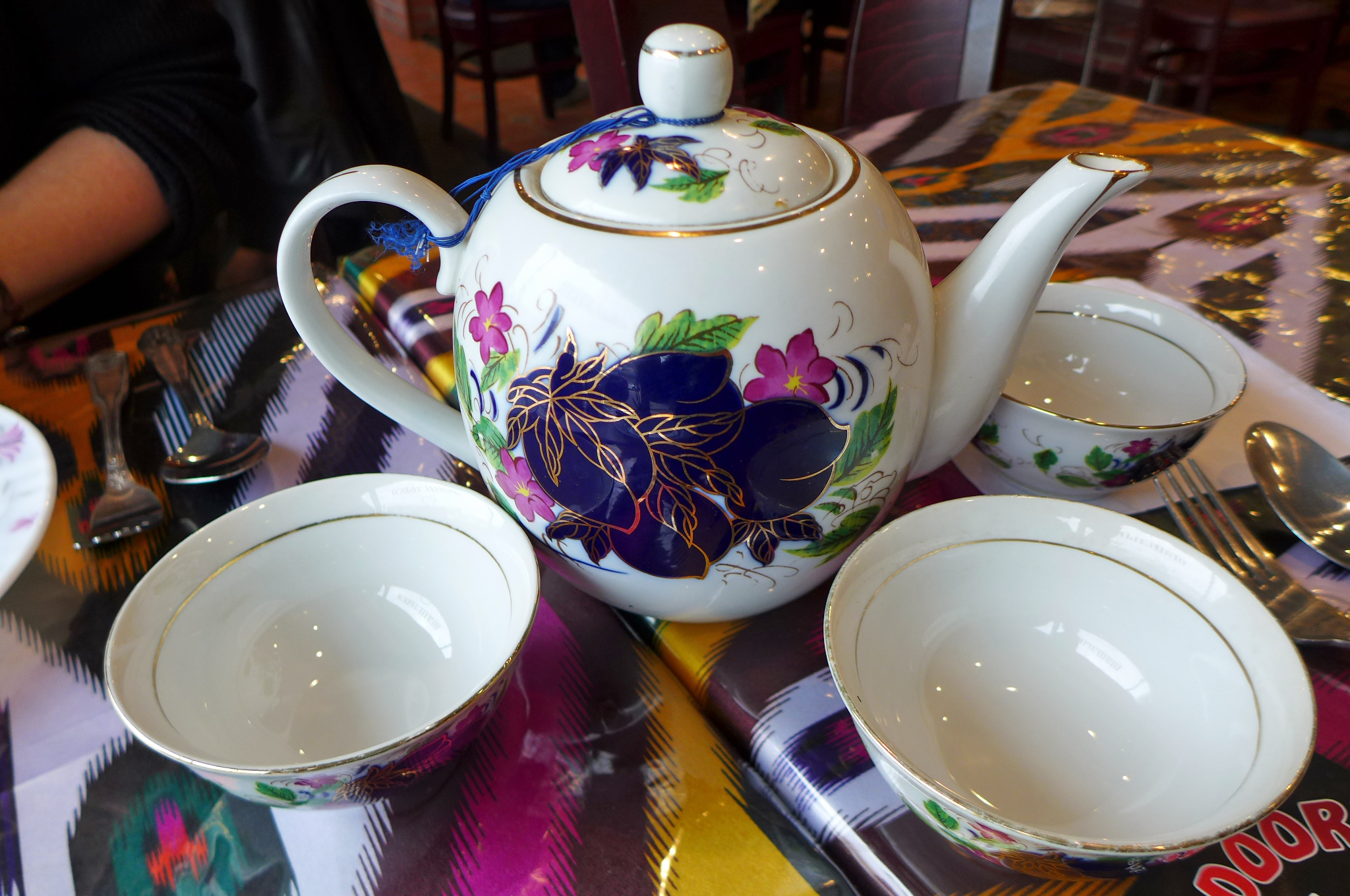A pot of green or black tea is an essential part of any meal at Foteh's Tandoori.
