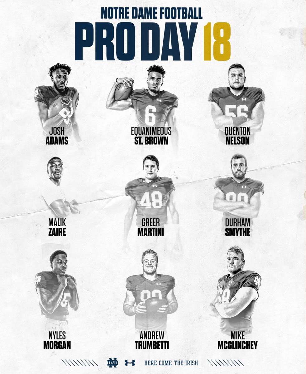 Notre Dame football pro day