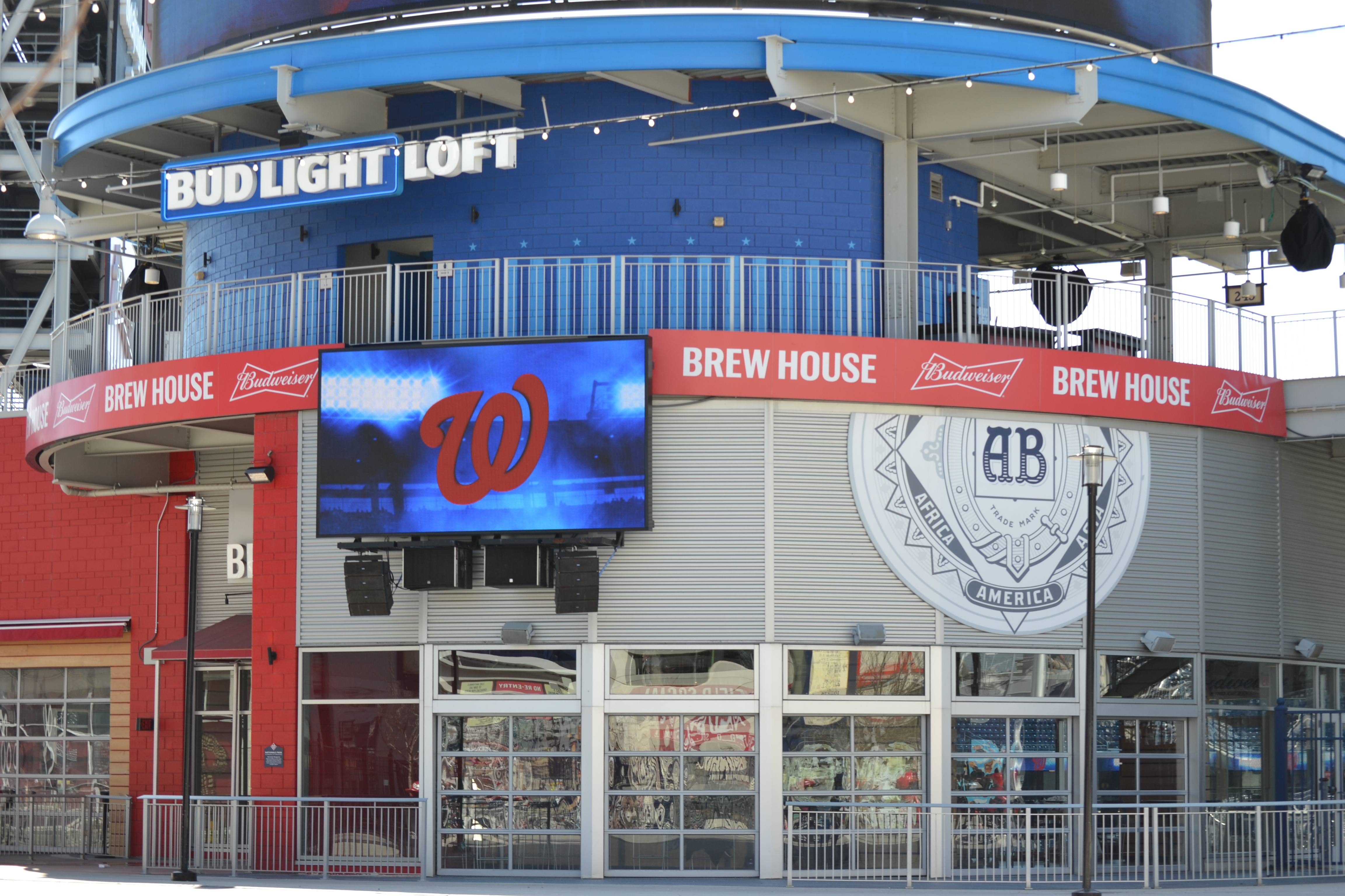 The Budweiser Brew House at Nats Park.