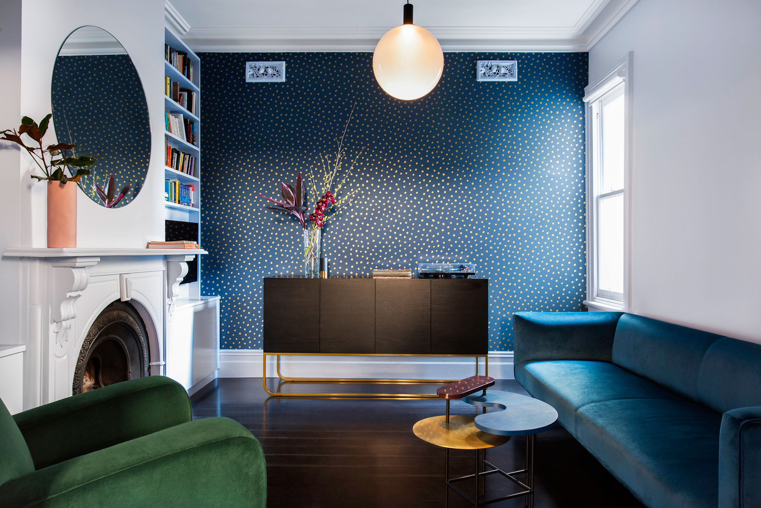 Victorian Renovation Is All About Bold Color