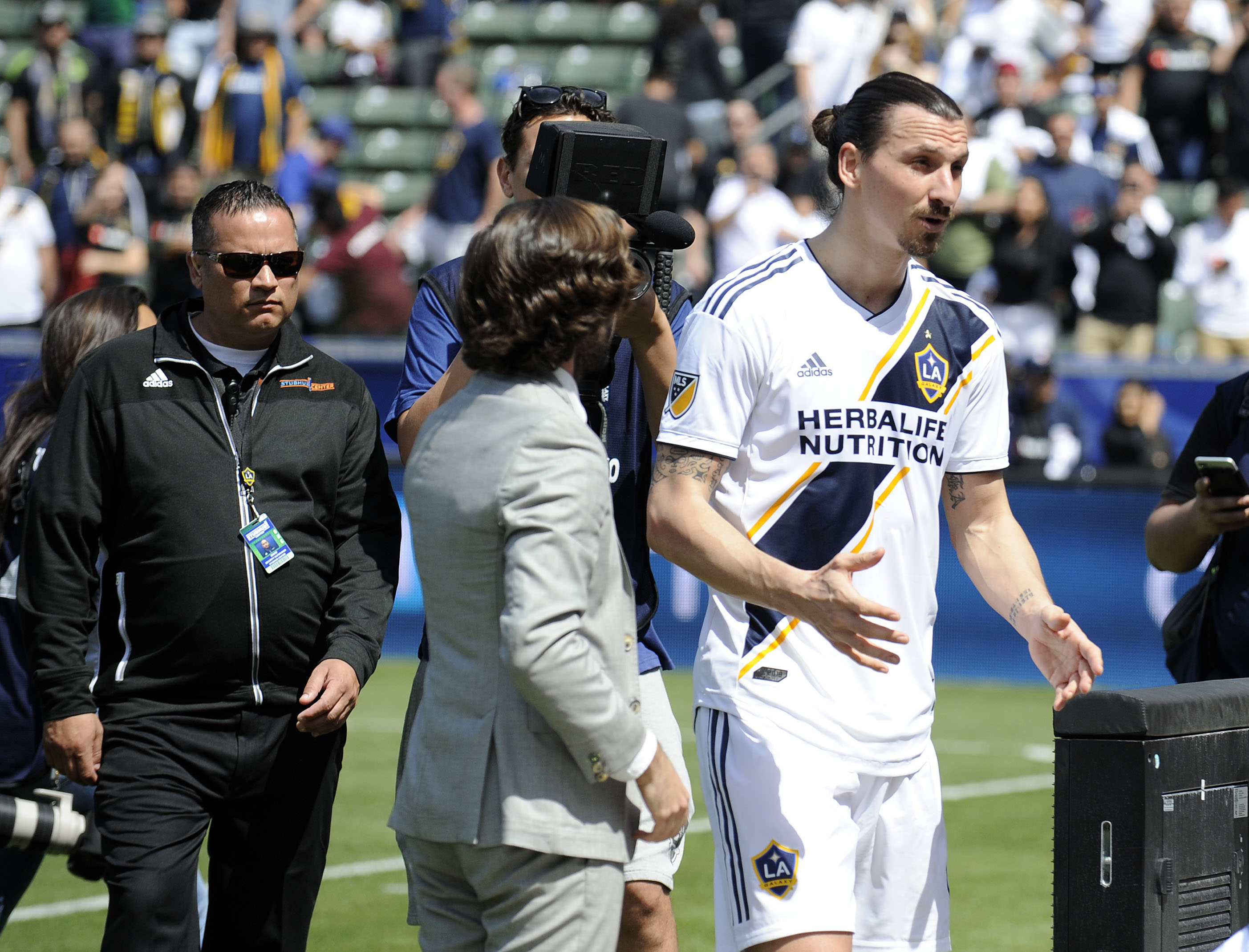 cceceb2da1a Watch: Zlatan Ibrahimovic scores brace on LA Galaxy debut