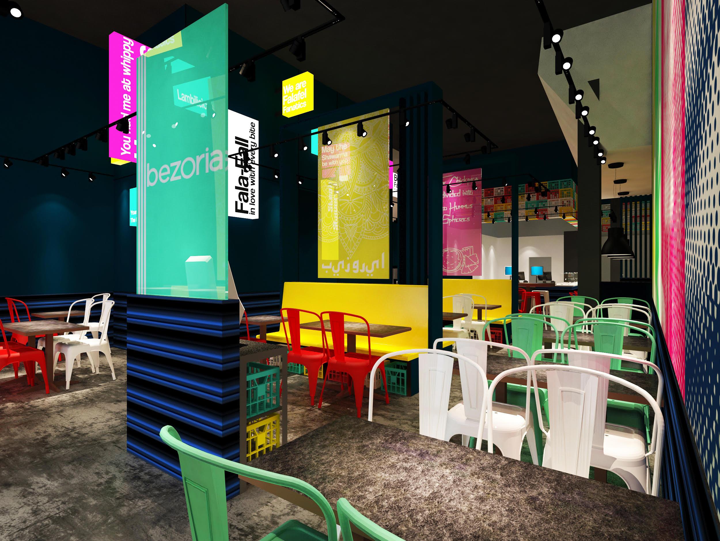 Rendering Bezoria's third location at Cumberland Mall