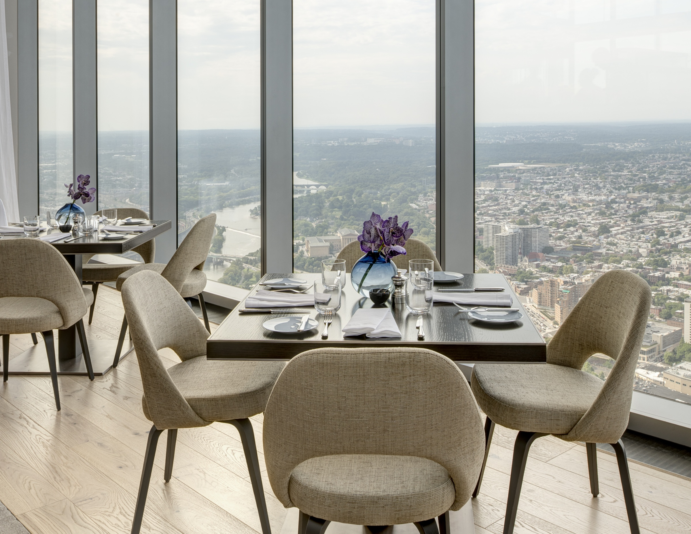 Views from Jean-Georges Philadelphia at the Four Seasons Philadelphia Comcast Center