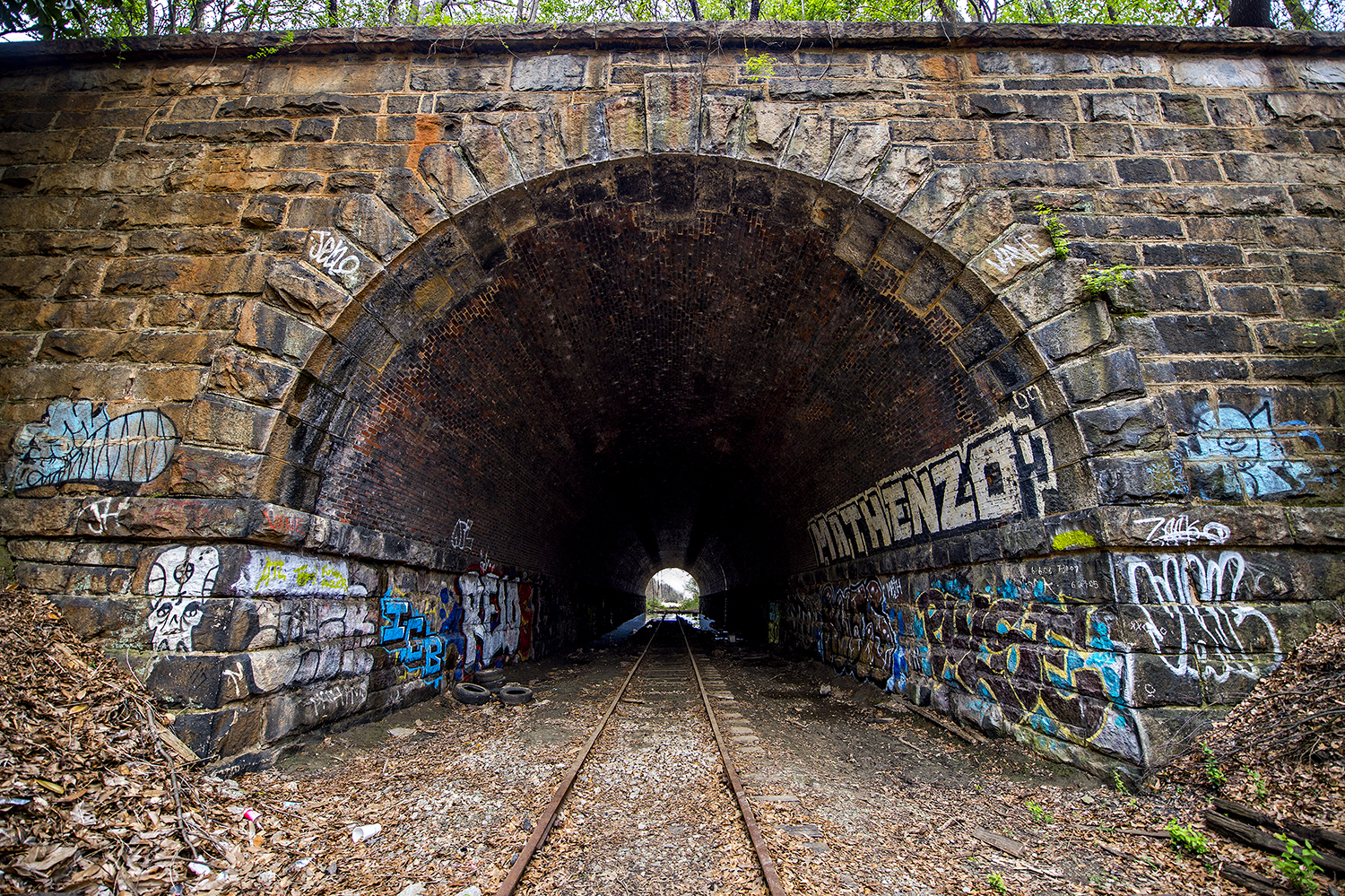 This stone bridge with an active rail line above could be an iconic Beltline site one day.
