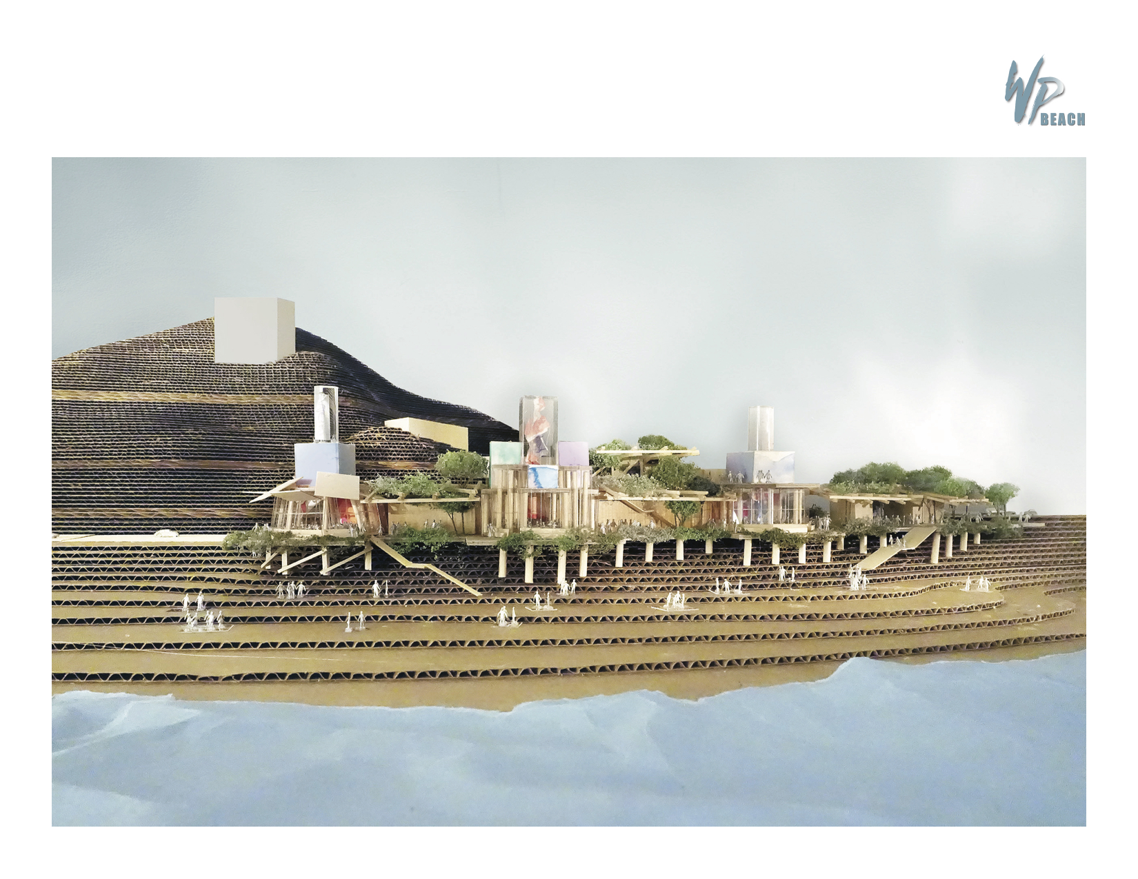 Rendering of Frank Gehry beach restaurant