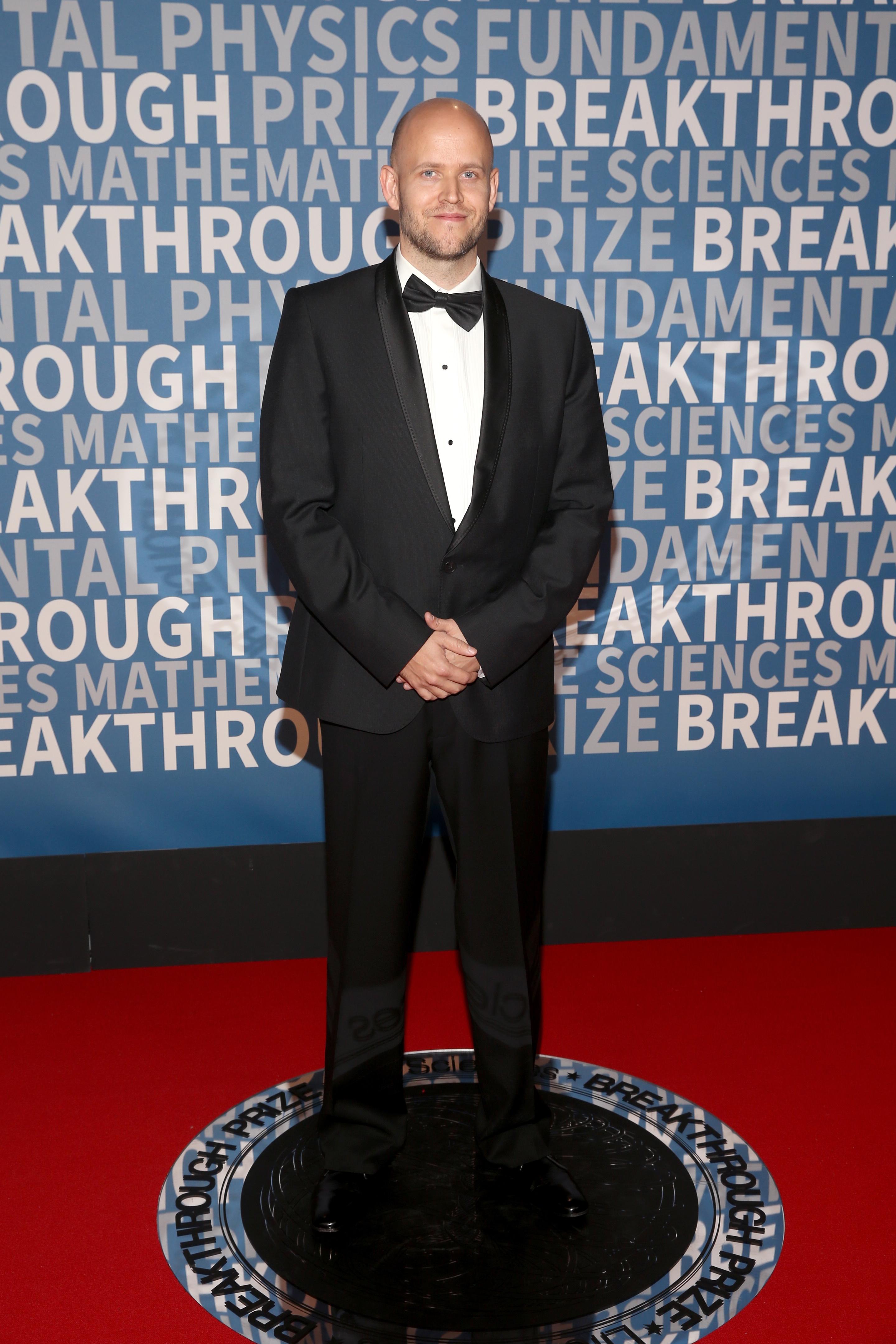 Spotify CEO Daniel Ek in a tuxedo