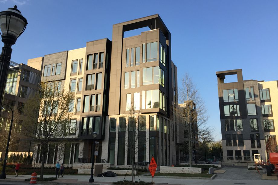 A photo of Midtown's upscale One Museum Place condos as construction finished in early 2017.