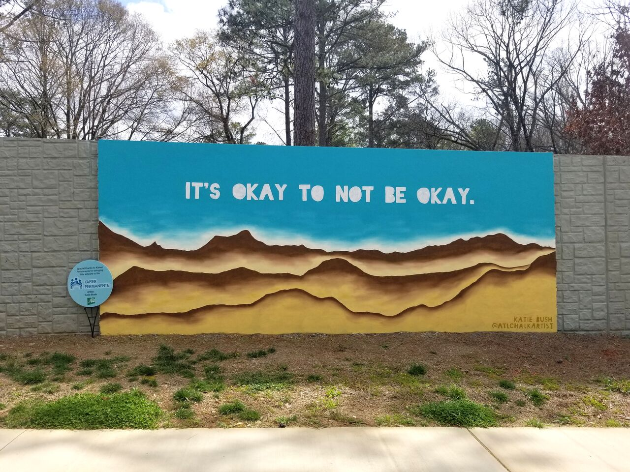 A photo of a new mural along PATH400 in Buckhead.