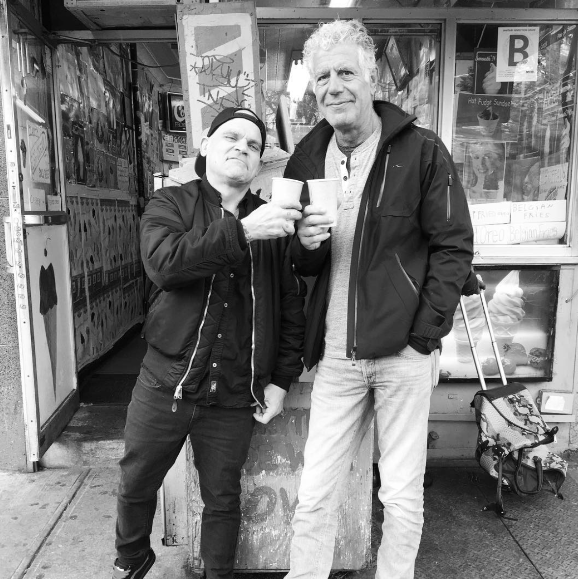 New York hardcore musician Harley Flanagan and Anthony Bourdain for the upcoming 11th season of 'Parts Unknown'