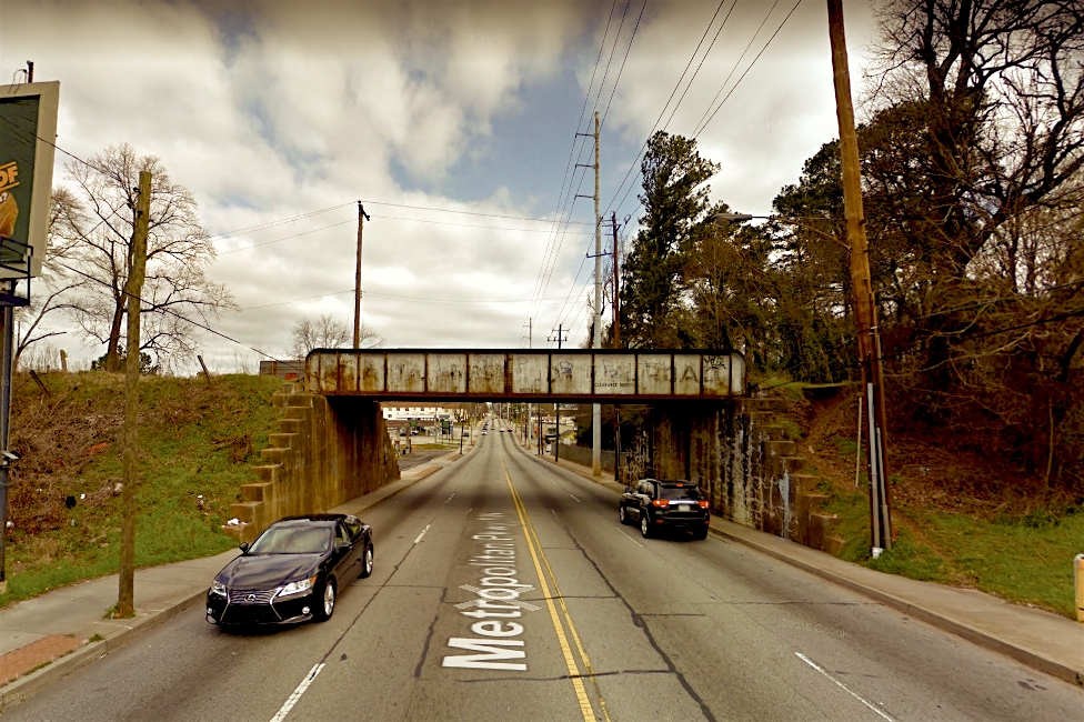 This inactive railroad bridge marks the point where the Beltline's Southside Trail will one day cross Metropolitan Avenue, just south of University Avenue.