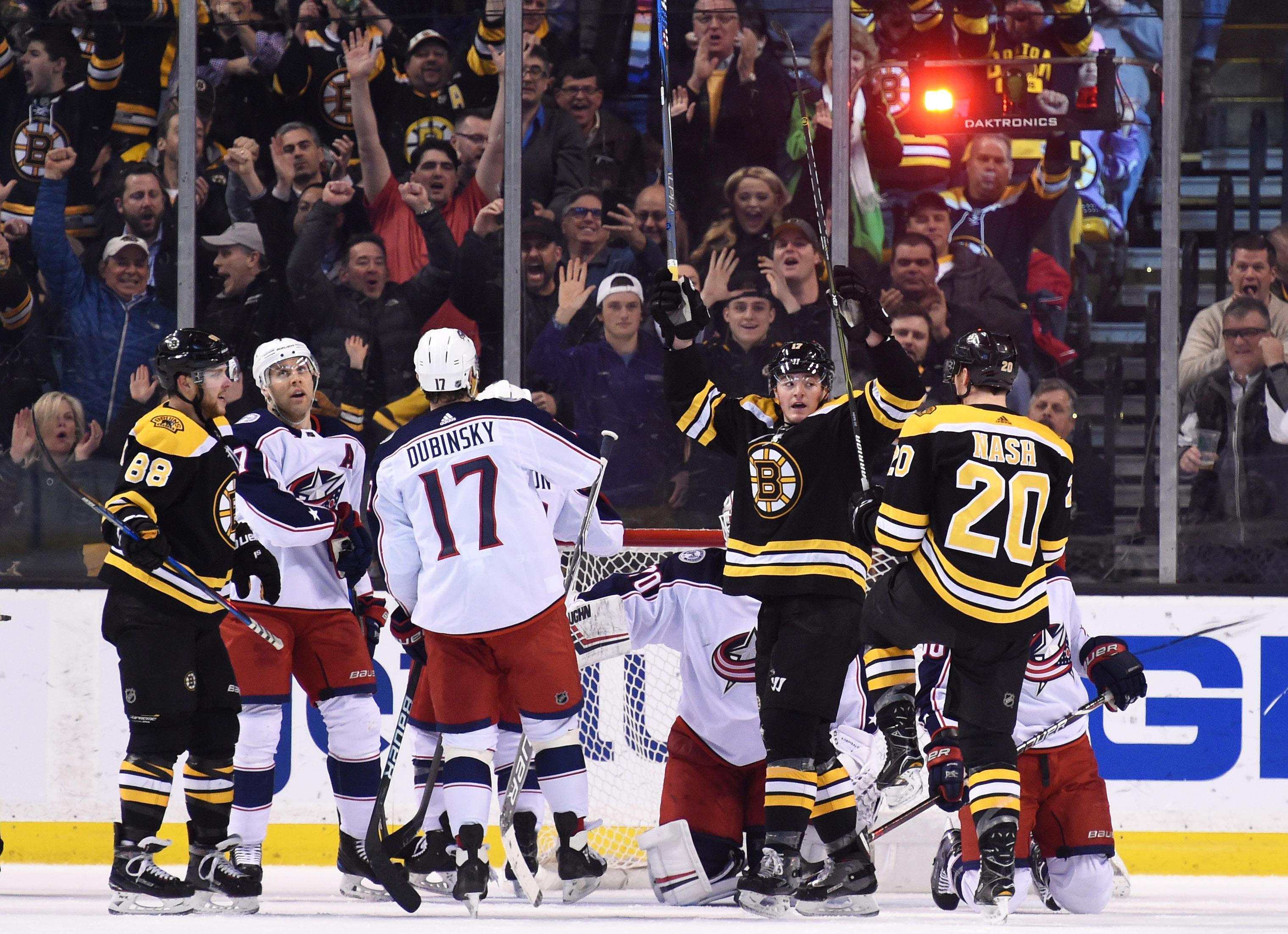 NHL: Columbus Blue Jackets at Boston Bruins