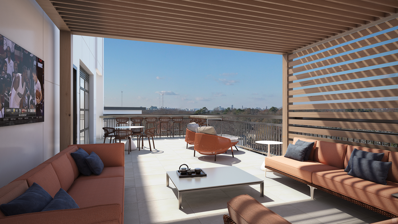 """A rendering of what's described as the """"sky lounge"""" at MARTA's next transit-oriented development."""