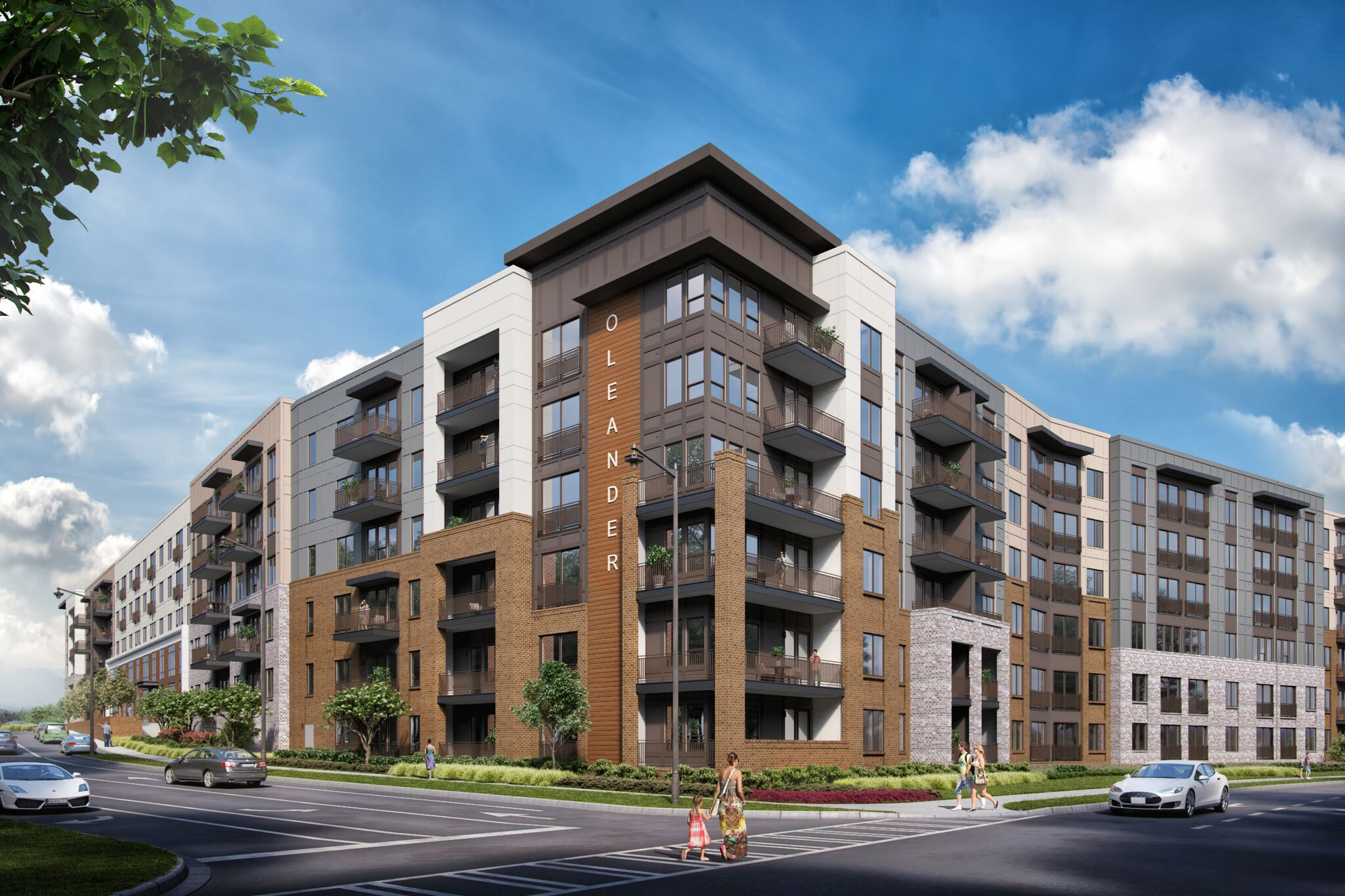 A rendering of apartments.