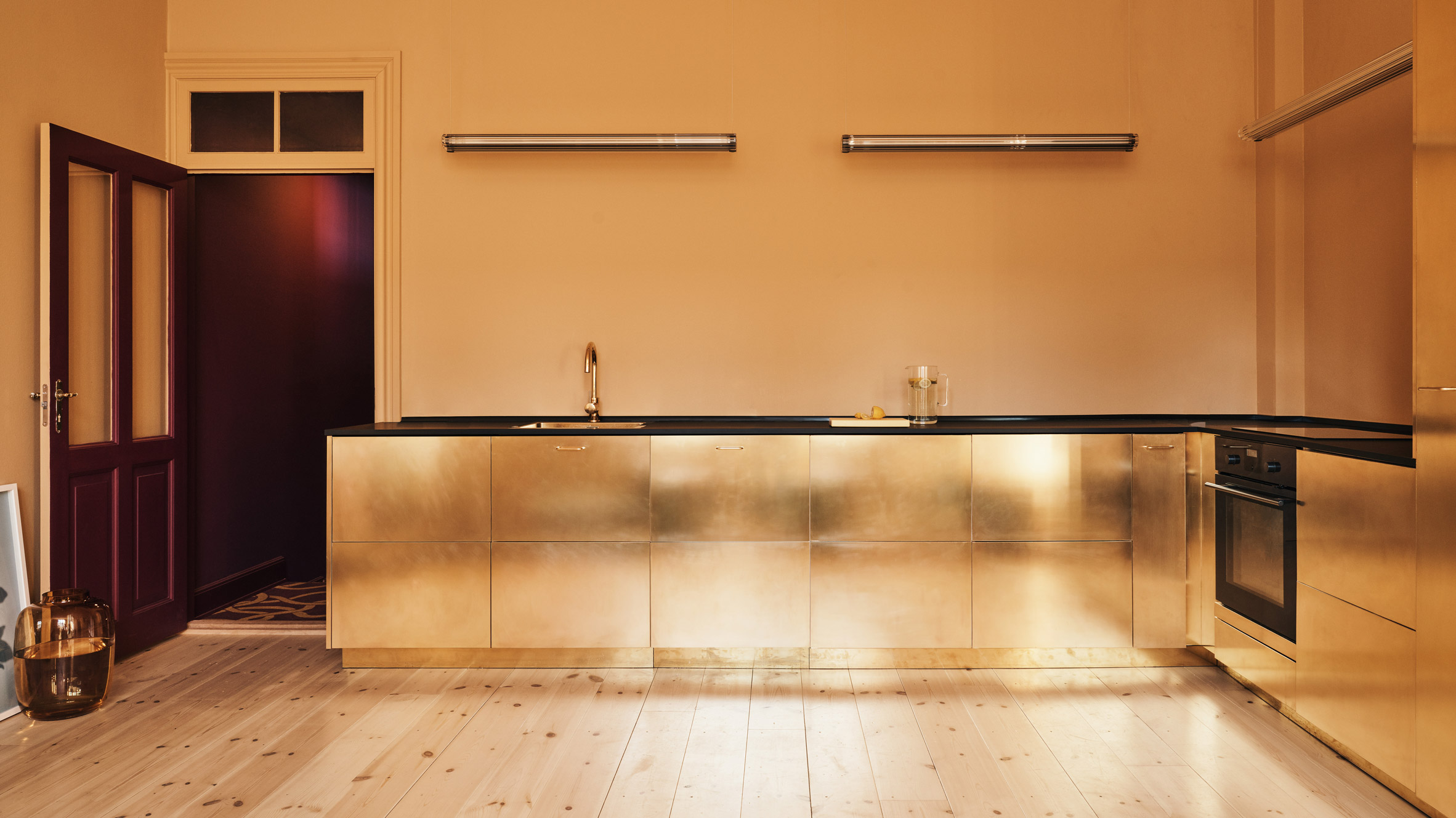 Ikea Kitchen Gets The Golden Treatment