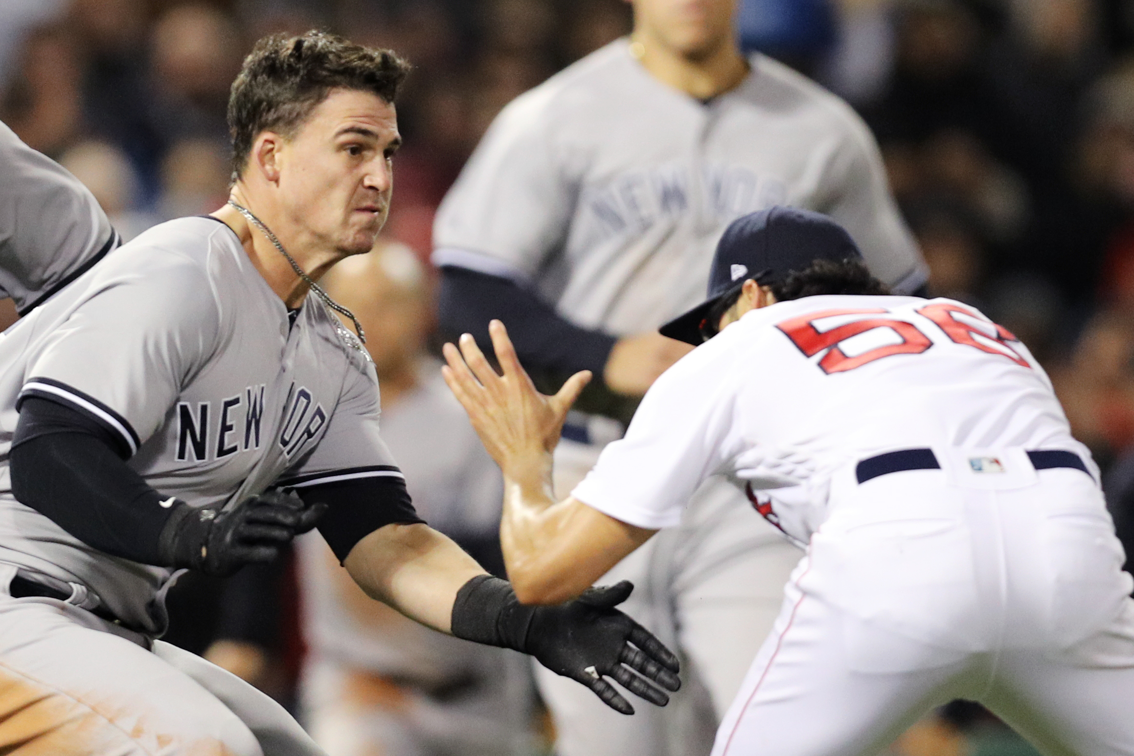 The 7 best moments from the Red Sox and Yankees' brutal brawl