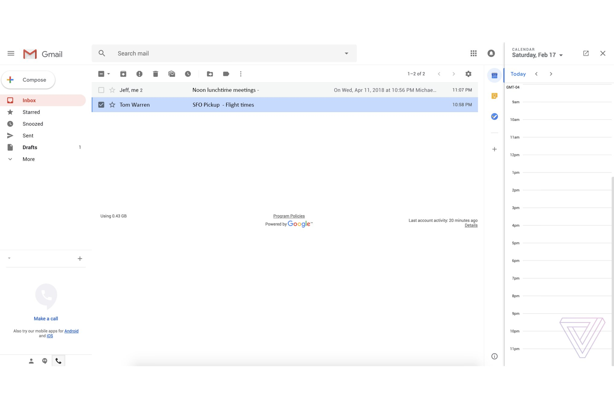 This is the new Gmail design The Verge