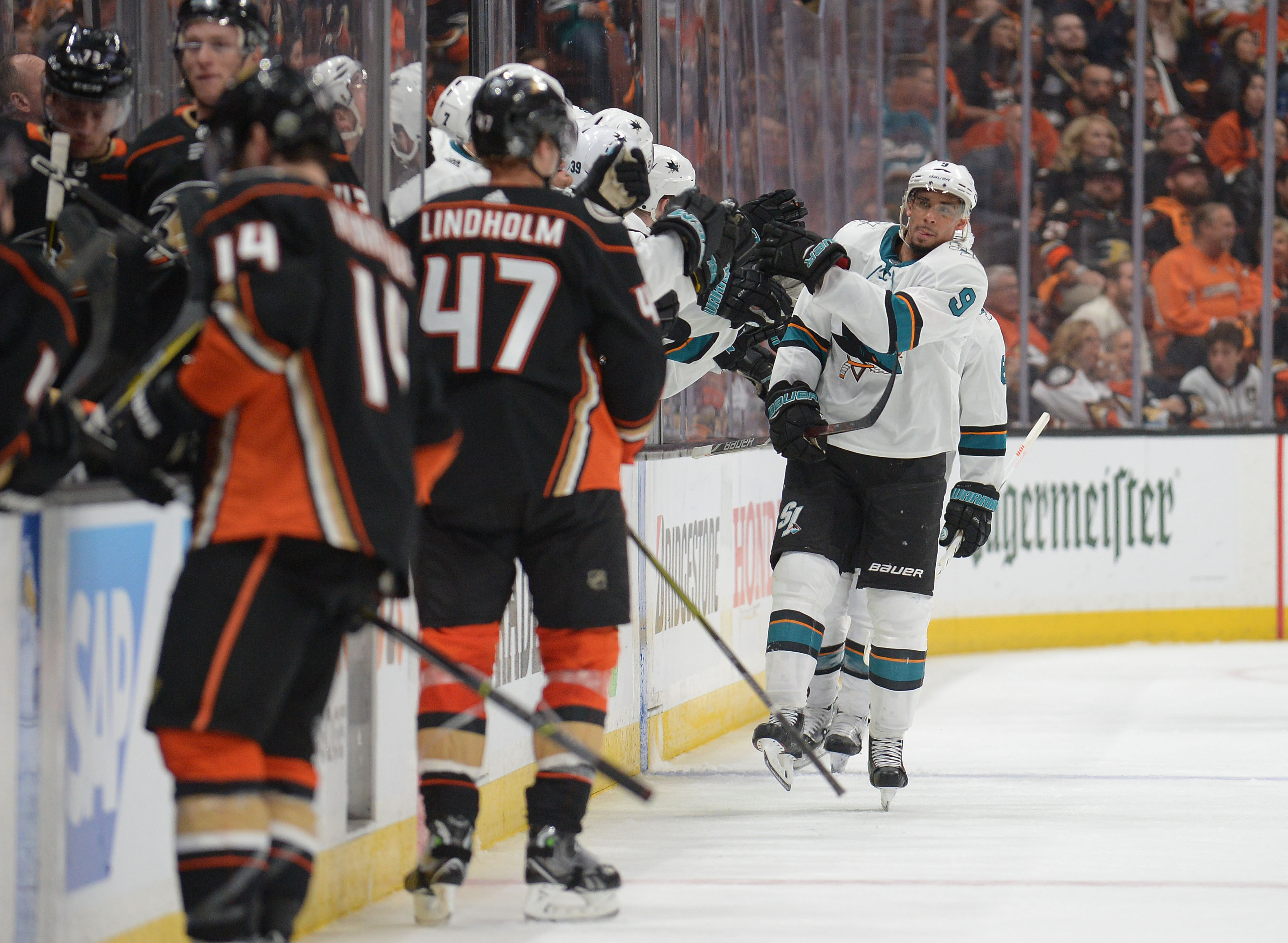 NHL: Stanley Cup Playoffs-San Jose Sharks at Anaheim Ducks