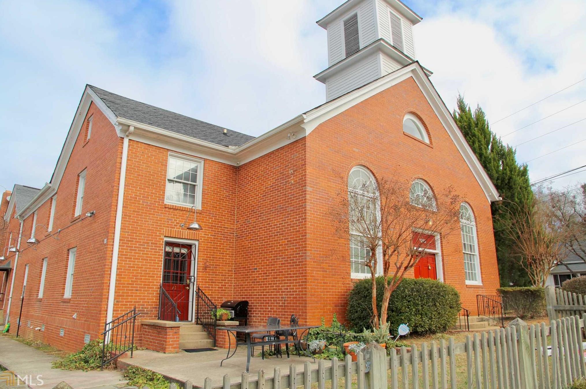 Church building converted into condos.