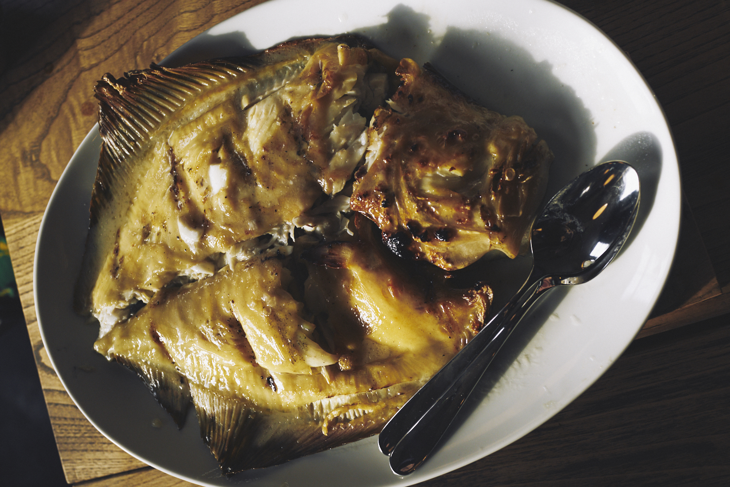 Whole turbot at Brat restaurant, one of London's iconic dishes