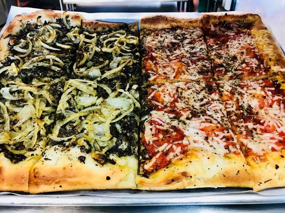 Eat at Jumbo's vegan Sicilian pizza