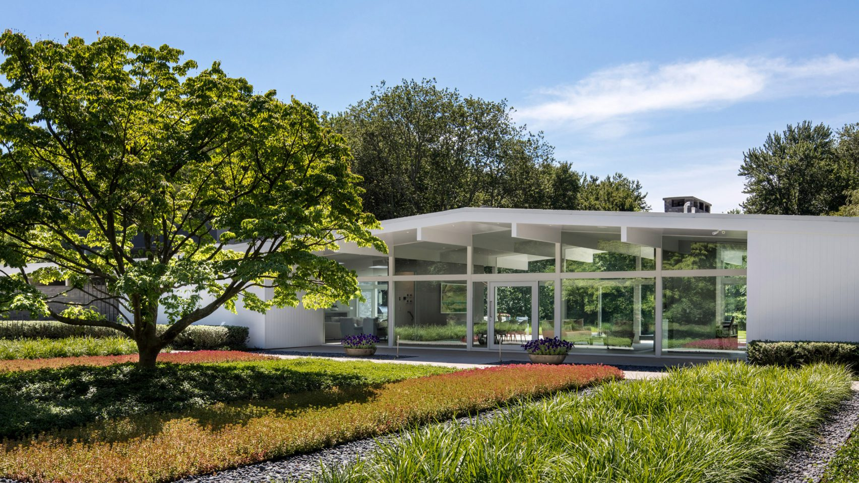 Midcentury modern curbed for Modern house zillow